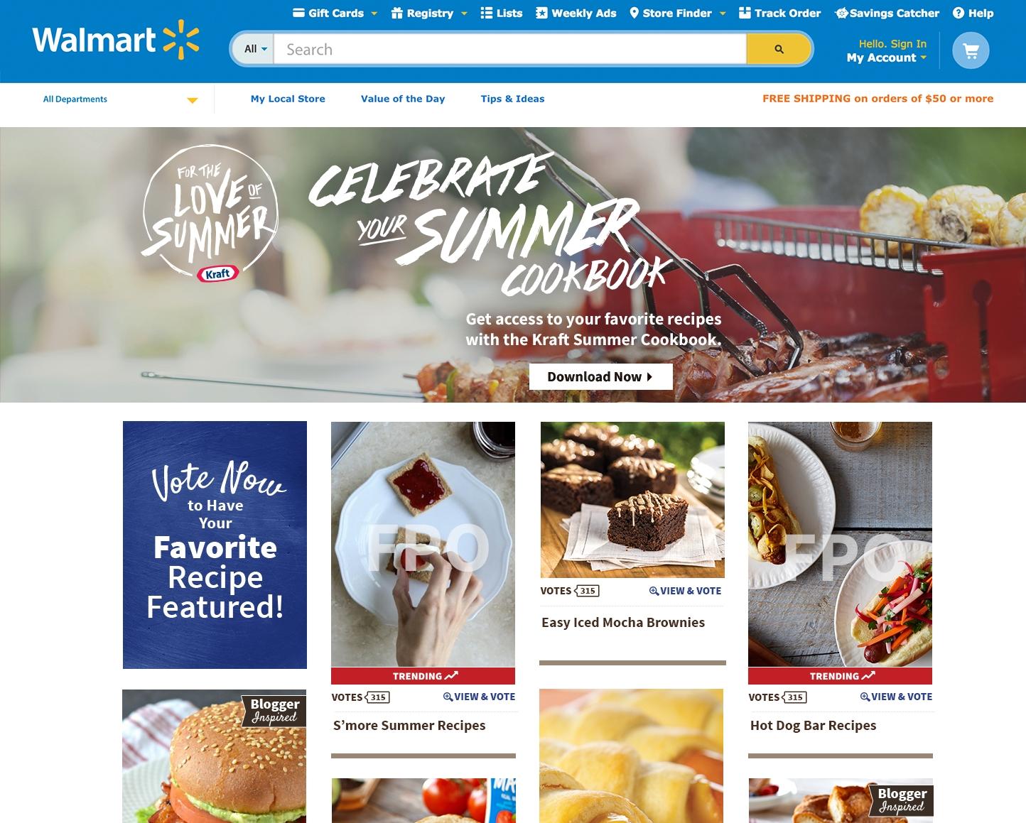 Kraft Digital Hub and Cookbook