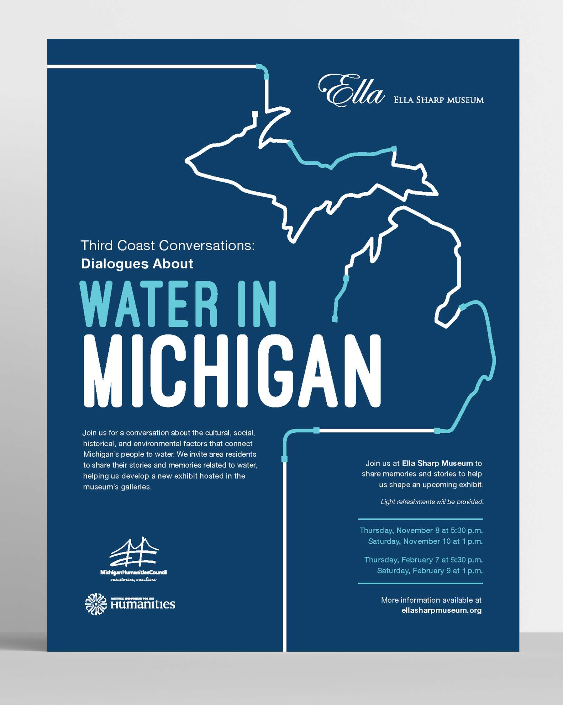 Ella Sharp Museum of Jackson, MI // Community Conversations: Water in Michigan