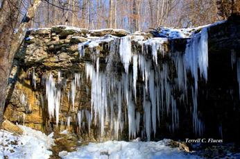 Charleston Falls - Originating from small underground springs several miles to the east, the stream creating the falls plummets 37 feet on its meandering journey to the Great Miami river, one mile to the west. 2535 Ross Road, Tipp City, OH 45371, website.