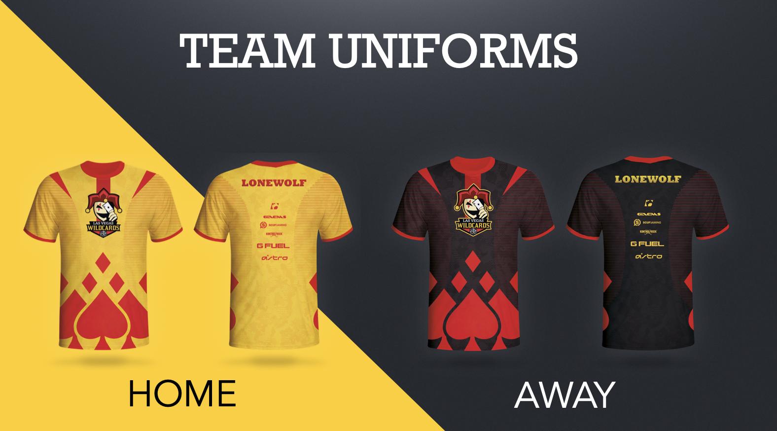Wild Card E-Sport Uniforms