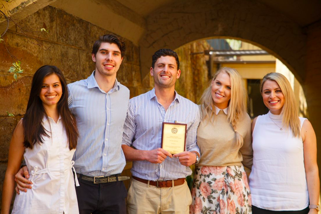 L to R: Hannah Soon (MANDUS Secretary), Matt Rickemann (MANDUS Treasurer), Thomas O'Donnell (MANDUS President), Jamie Manfield (MANDUS Pre-Clinical Vice President) and Nadine Sexton (Pre-Clinical AMSA Representative).