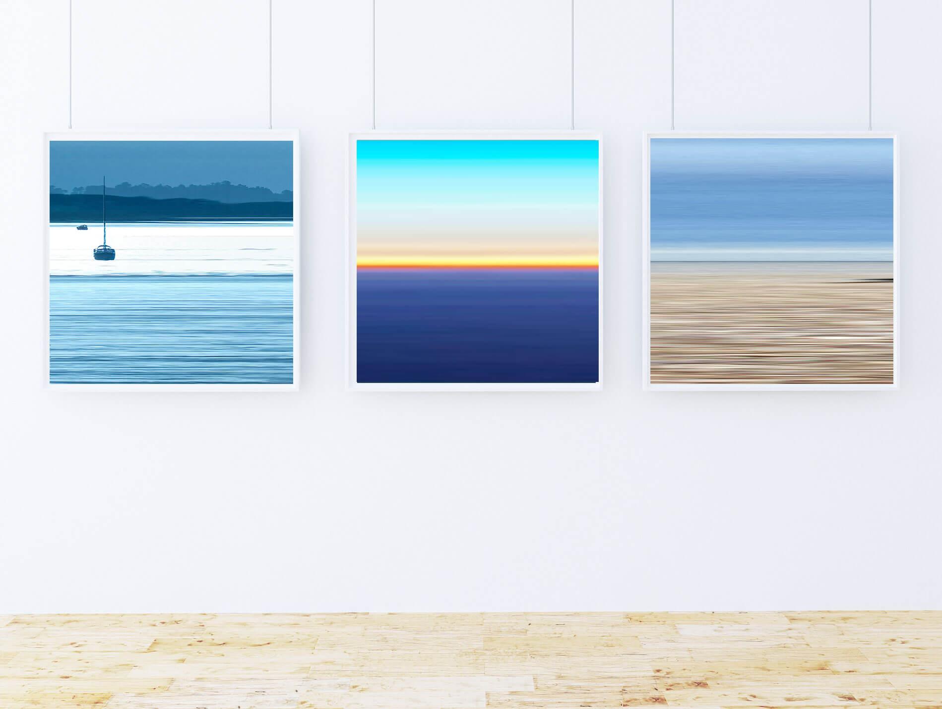 Bawdsey, Number 92, Aldeburgh. Art for Sale (60x60cm) £395 Framed (each). Art for Dining Room.