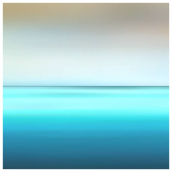 Seascape - Fuji Crystal on Acrylic, White Box Framed 60x60cm ) | Price £460 Framed. Print run of 25 | Turquoise, Warm Grey, Mouse Back, Elephant Breath, Regency Blue, Duck Egg.