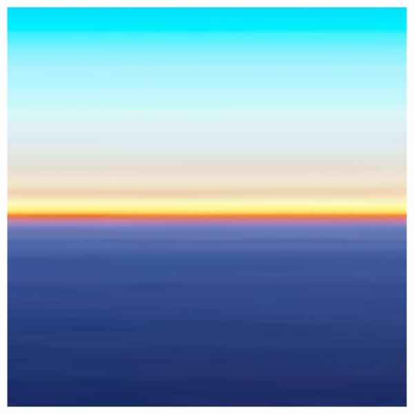 Earth - Fuji Crystal on Acrylic, White Box Framed 60x60cm ) | Price £460 Framed. Print run of 25 | Deep Blue, Orange, Turquoise.