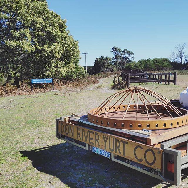 Another amazing spot for a yurt setup! ☀️ . . . . . . #yurt #taswedding #bakersbeach #tasmania