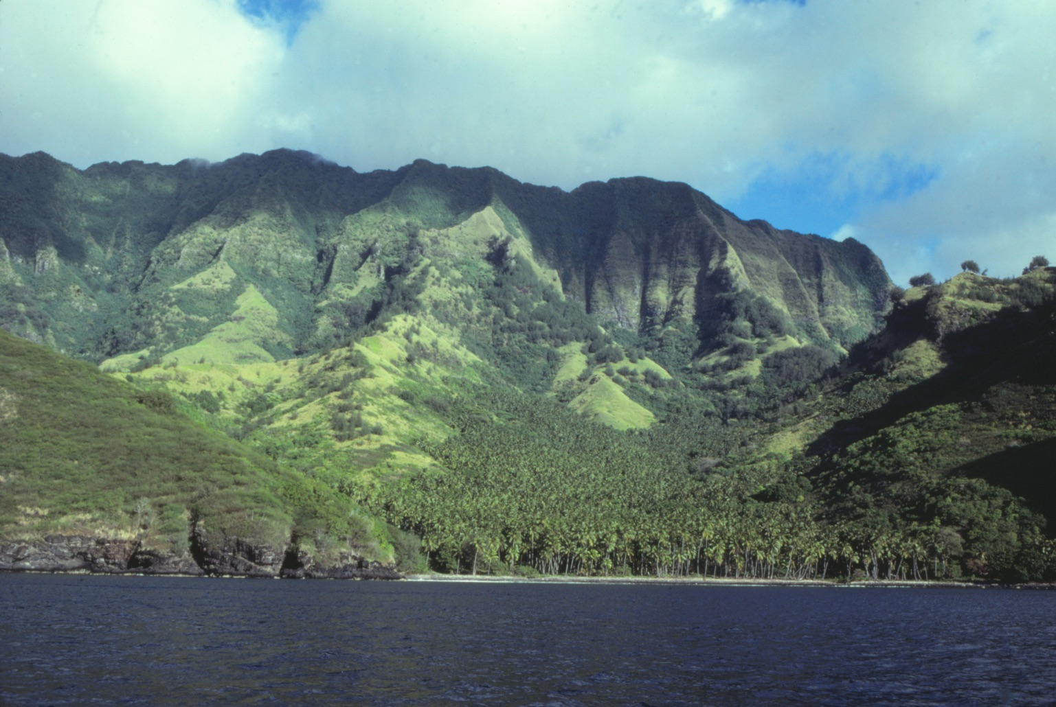 Hanamiai Valley, a 20 minute walk from Vaitahu (photographed in 1981).