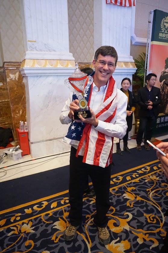 Brad Zupp with Team USA trophy 2