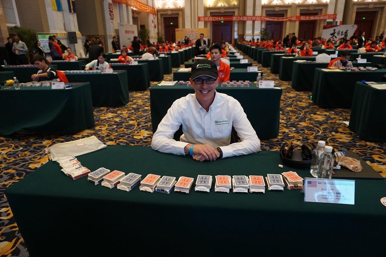 Brad Zupp Prepares to Memorize 12 decks of cards