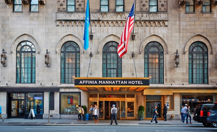 Affinia Manhattan Hotel Technologicaly advanced event space for corporate events in the middle of the city.