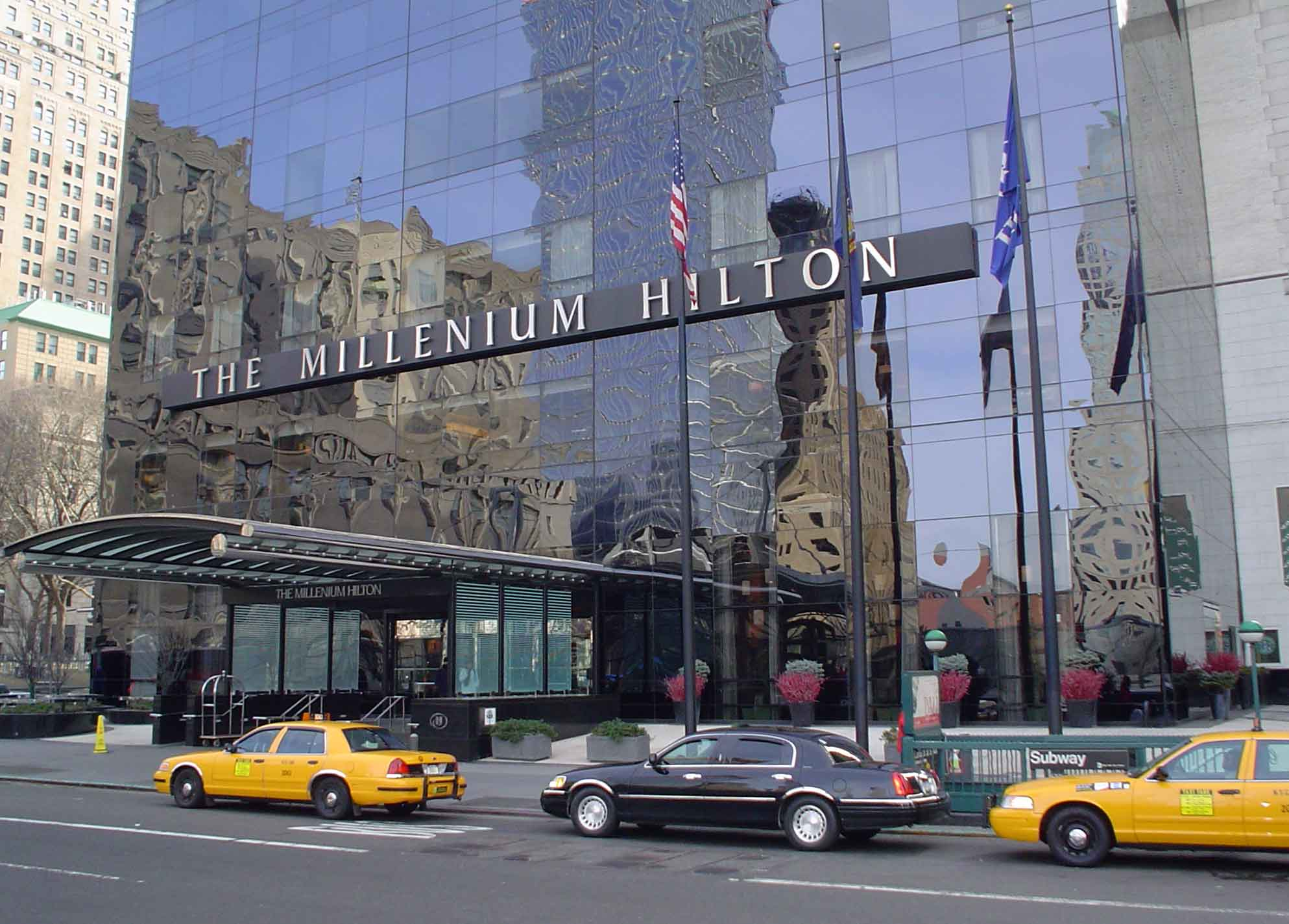 Millenium Hilton  with built-in business center and 3,500 sq. ft. meeting space equipped with high-technology tools.
