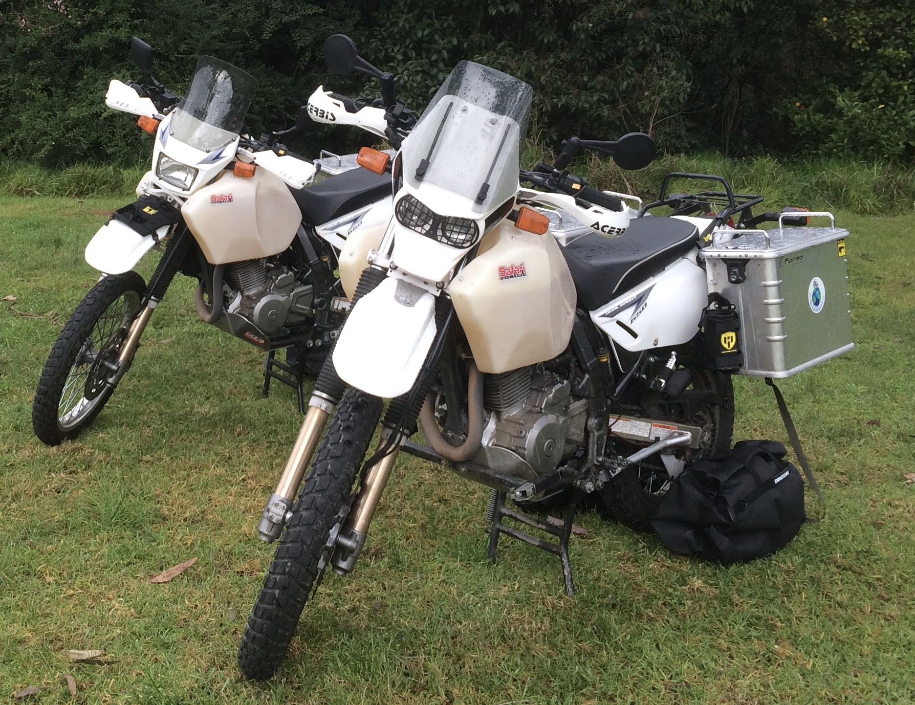 The two DR650's at Wollembi, NSW, Australia