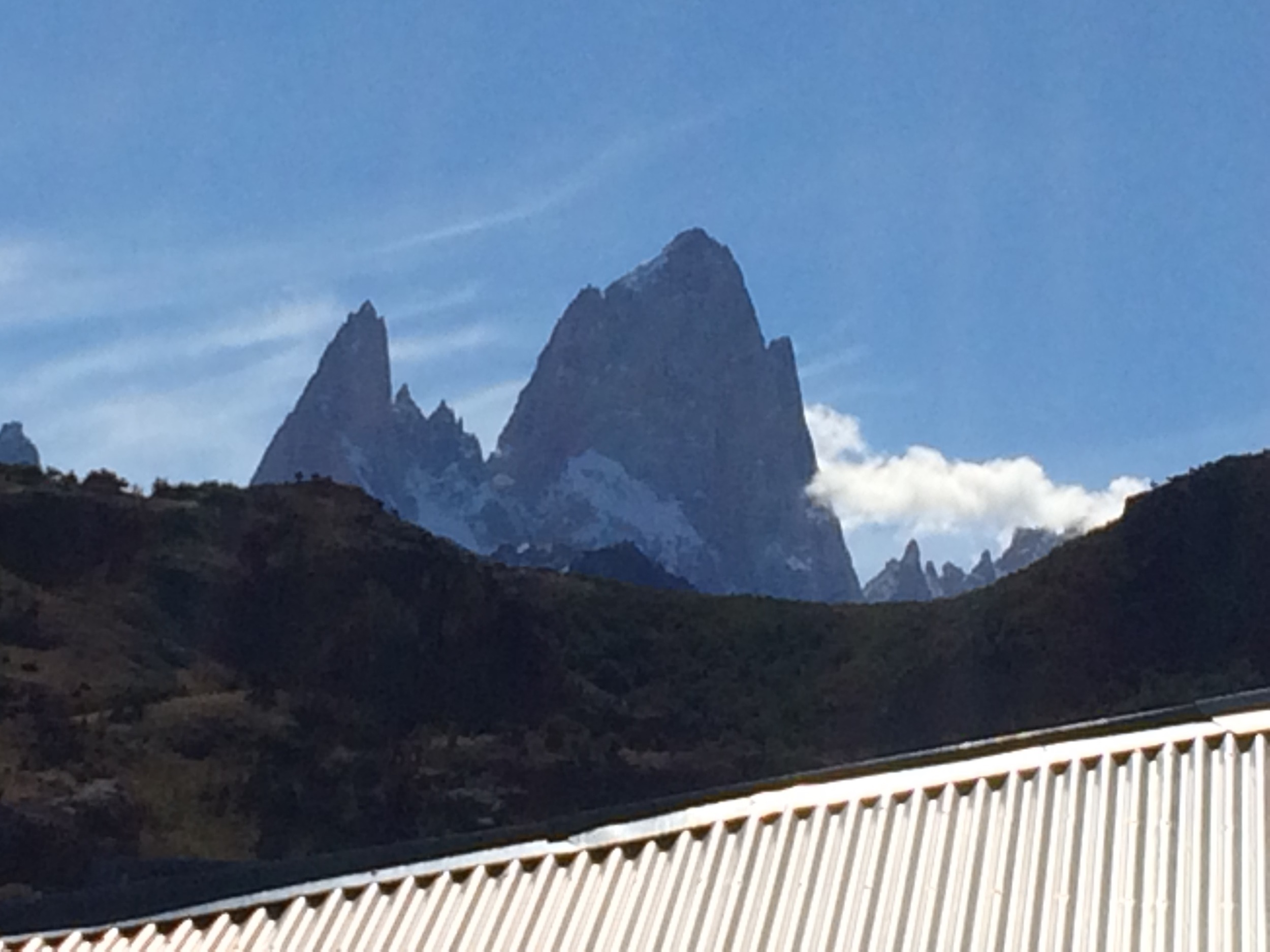 Mount Fitzroy just behind our accommodation.