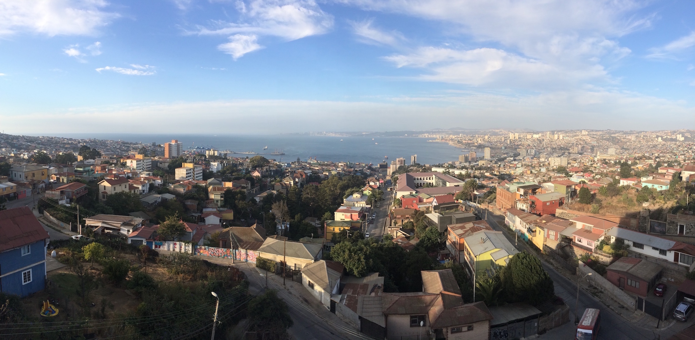 View overlooking Valparaiso from our first apartment.