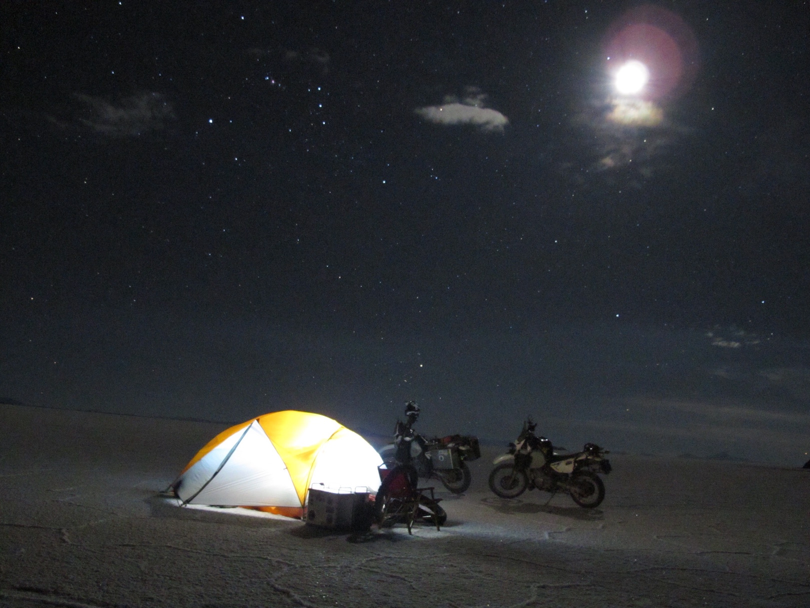 Night time on the salt flat.