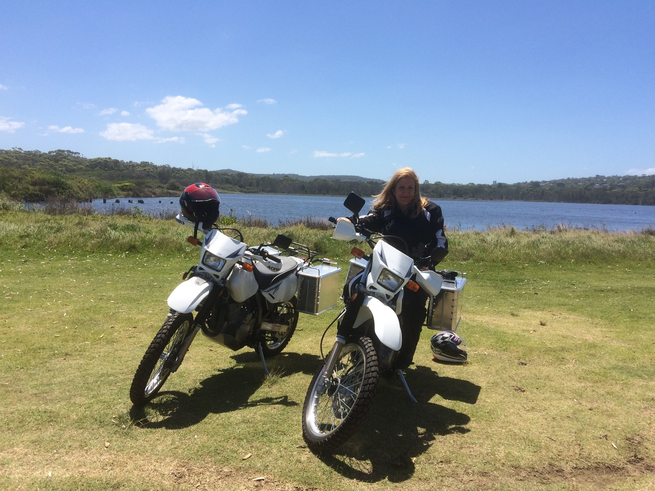 One of our first rides on the brand new DR's, just up to Dee Why, north of Sydney.