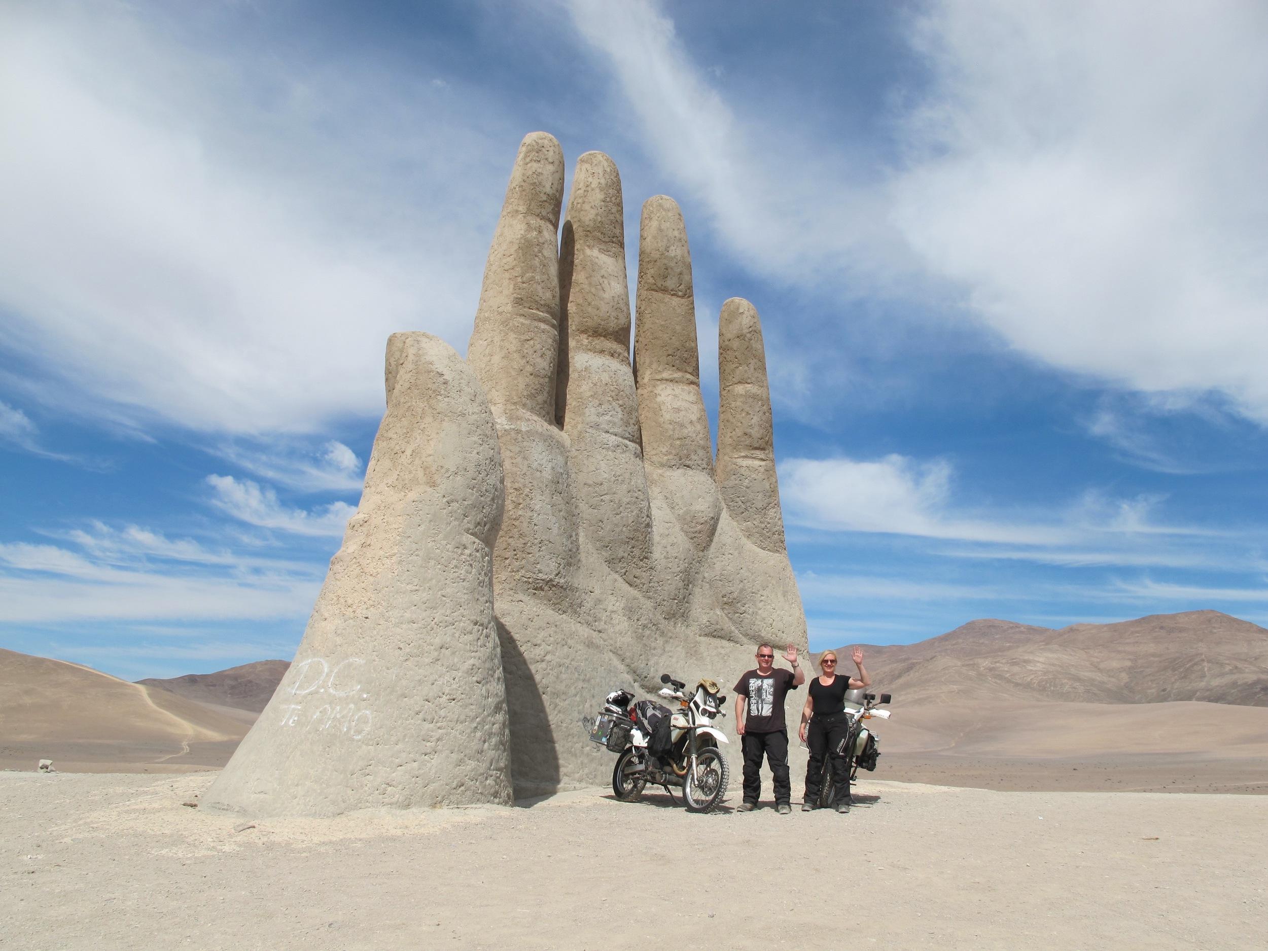 Hand in the desert, Antofagasta, Chile