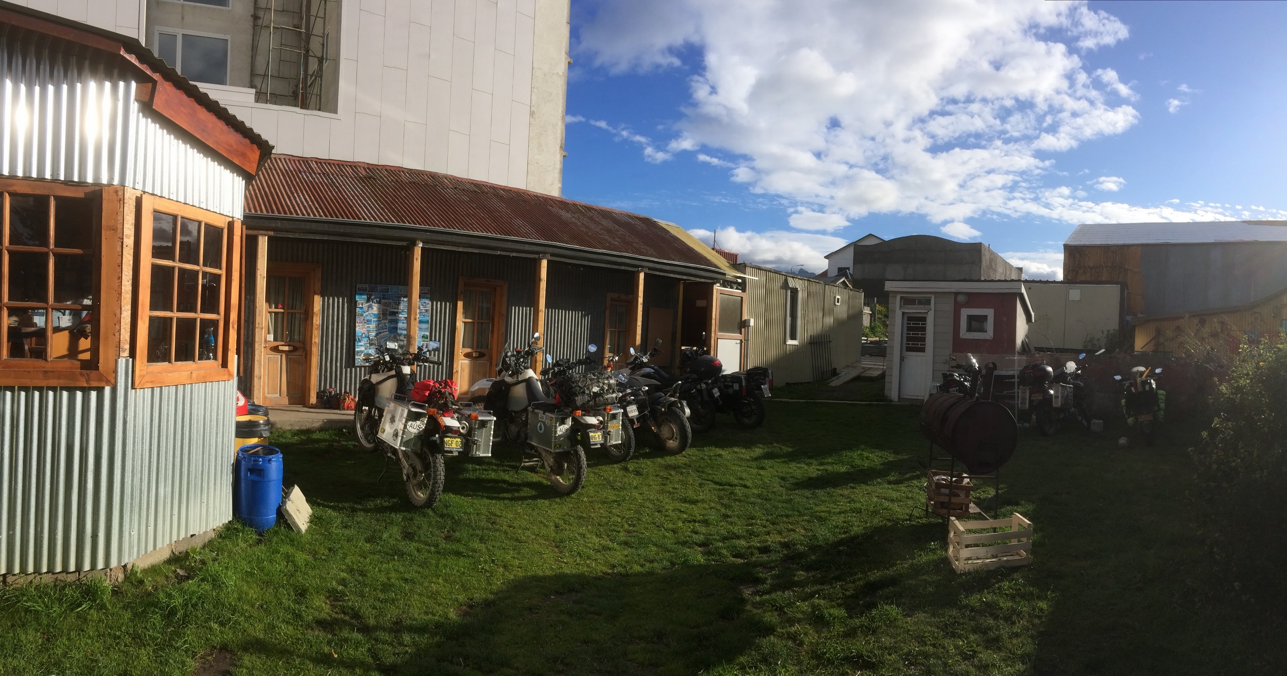 Momo's hostel, the place all bikers 'in the know' stay in Ushuaia