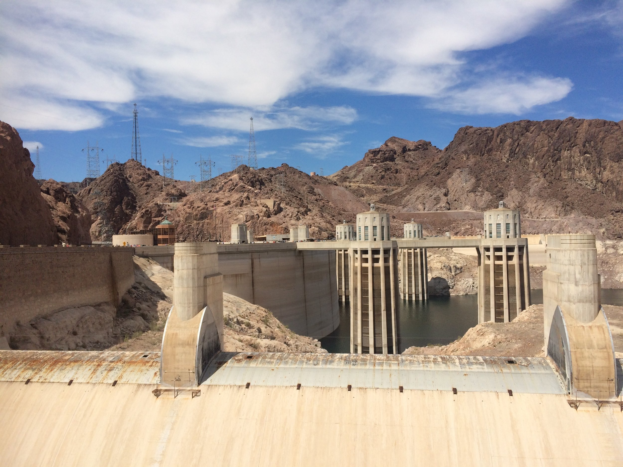 Hoover Dam intake towers.
