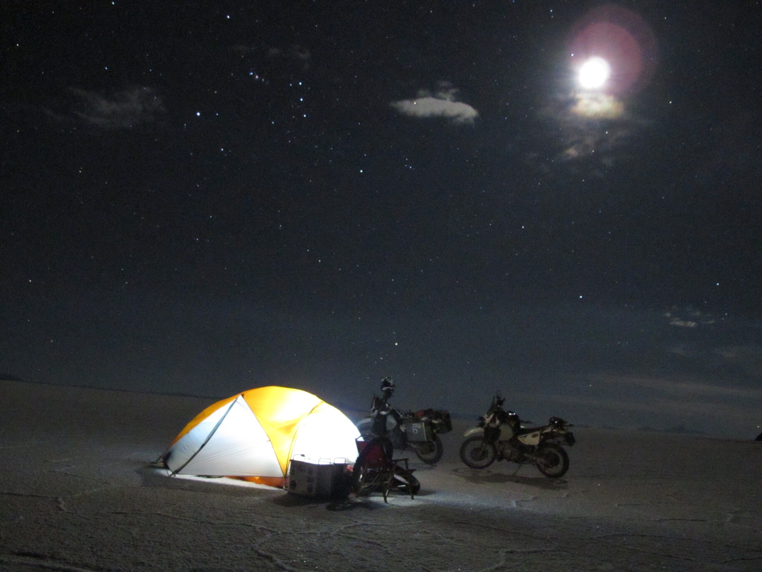 Night time on the Salt, Bolivia