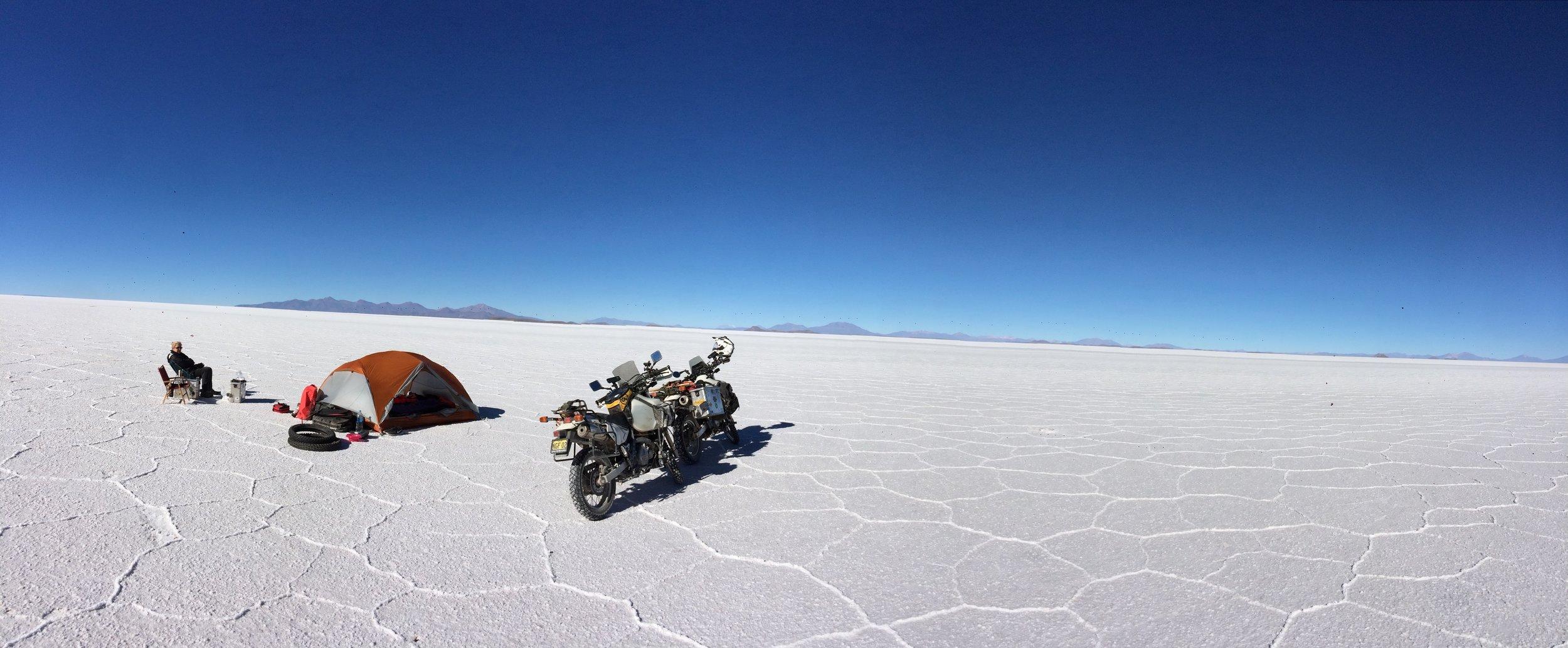Morning on the Salt, Salar de Uyuni, Bolivia
