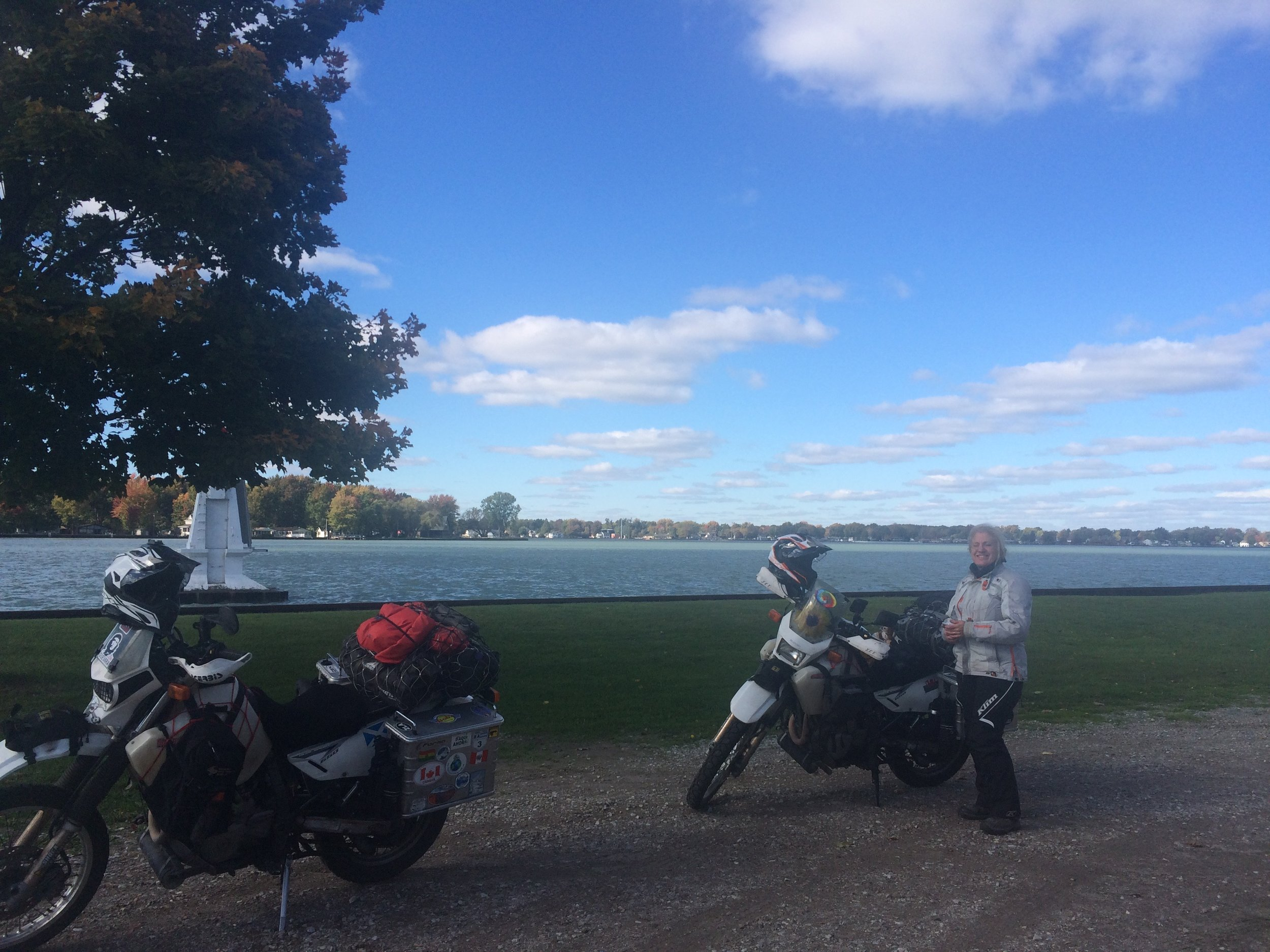 Yay! Back in Canada - Walpole Island. St Clair River in the background.