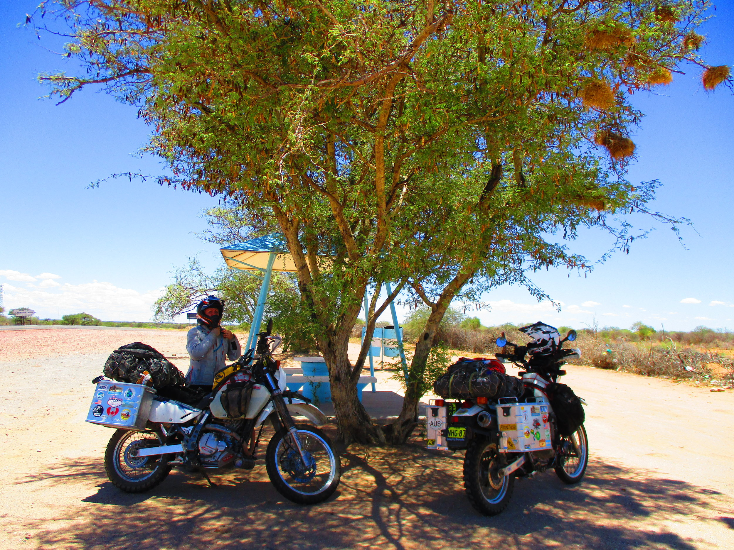 One of the roadside rest stops in Namibia
