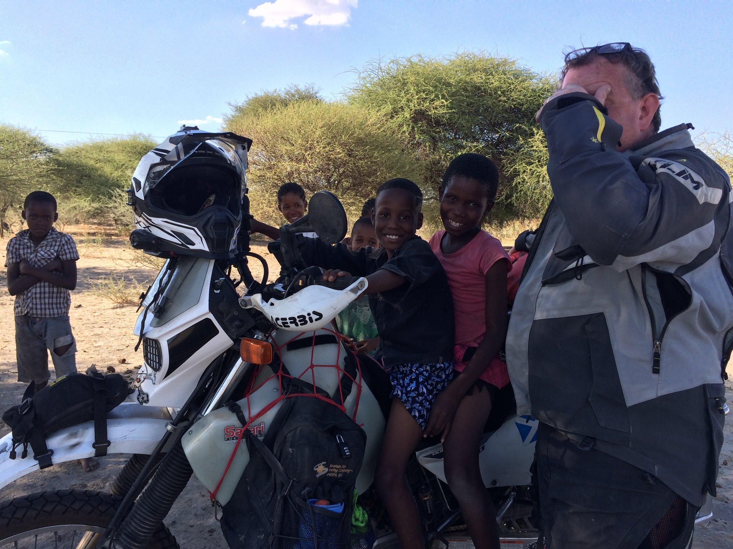 Oh no, kids on my bike!