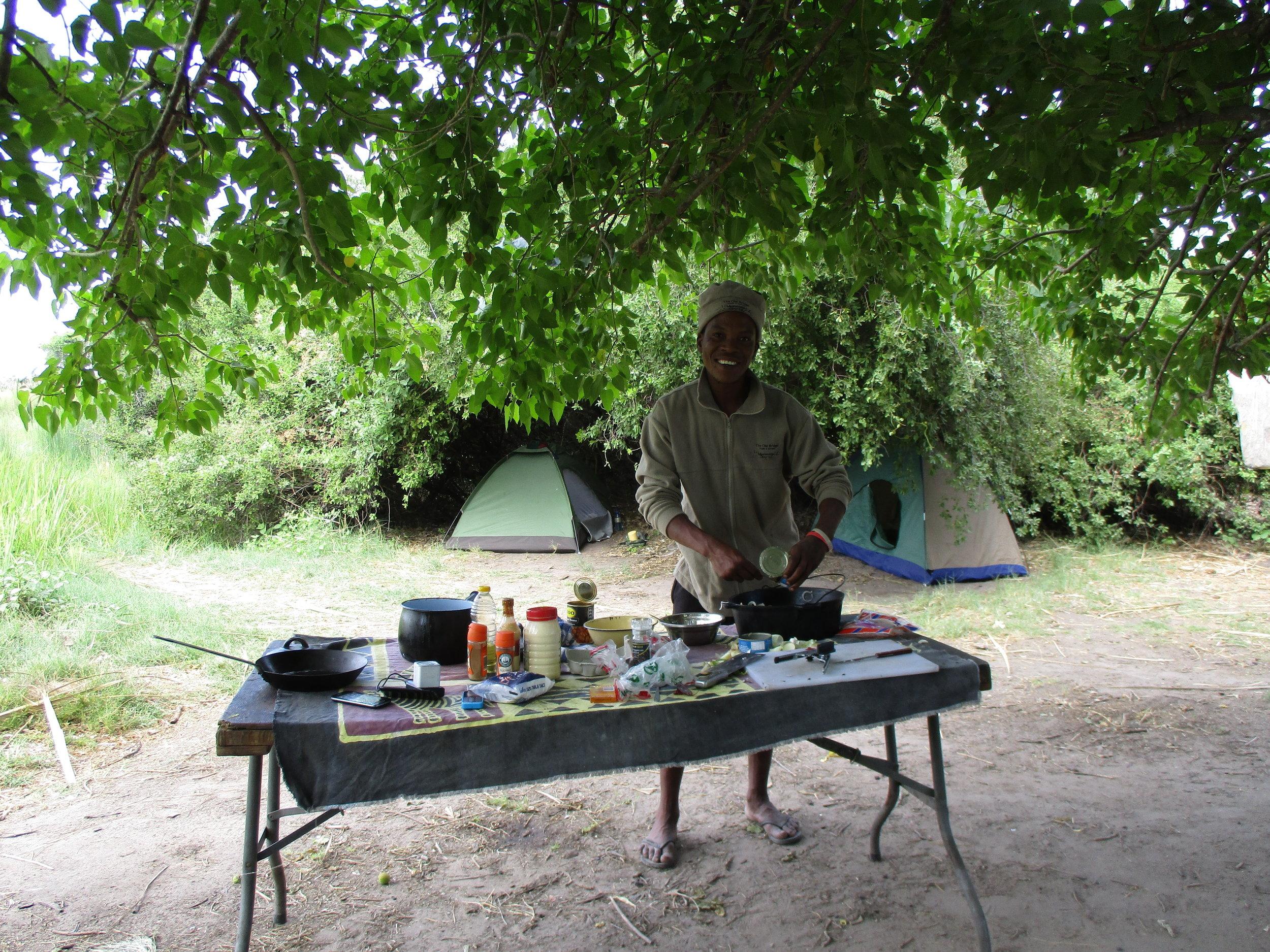 Calvin - our chef preparing dinner