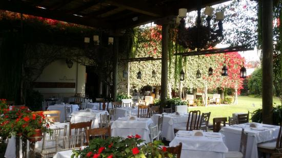 They have a really lovely restaurant in the grounds where we had a spot of lunch with a cheeky glass of wine.