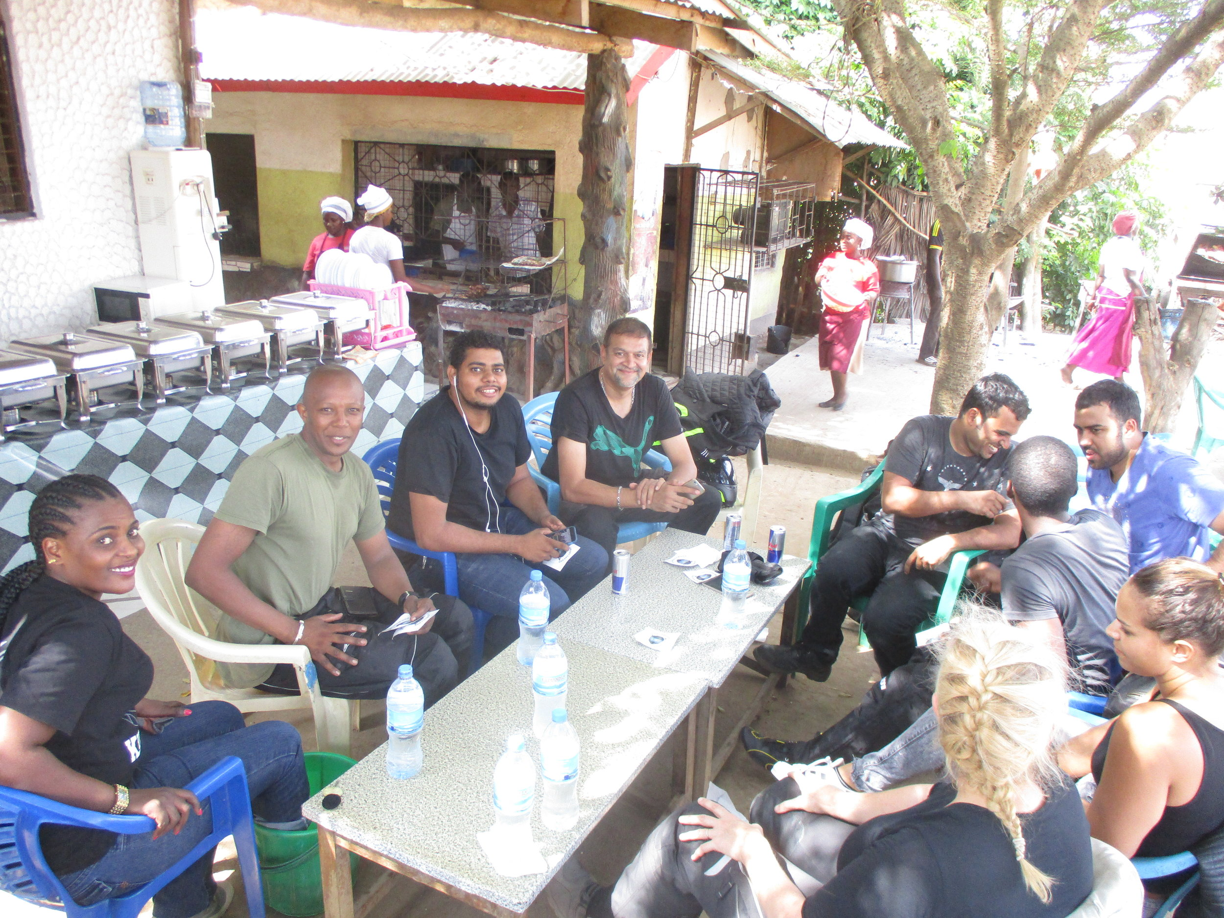 New friends, the Dar Es Salaam crew