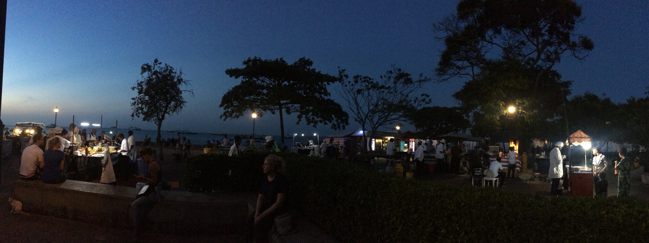Our last night on Zanzibar, we found an open air food market for a seafood feast