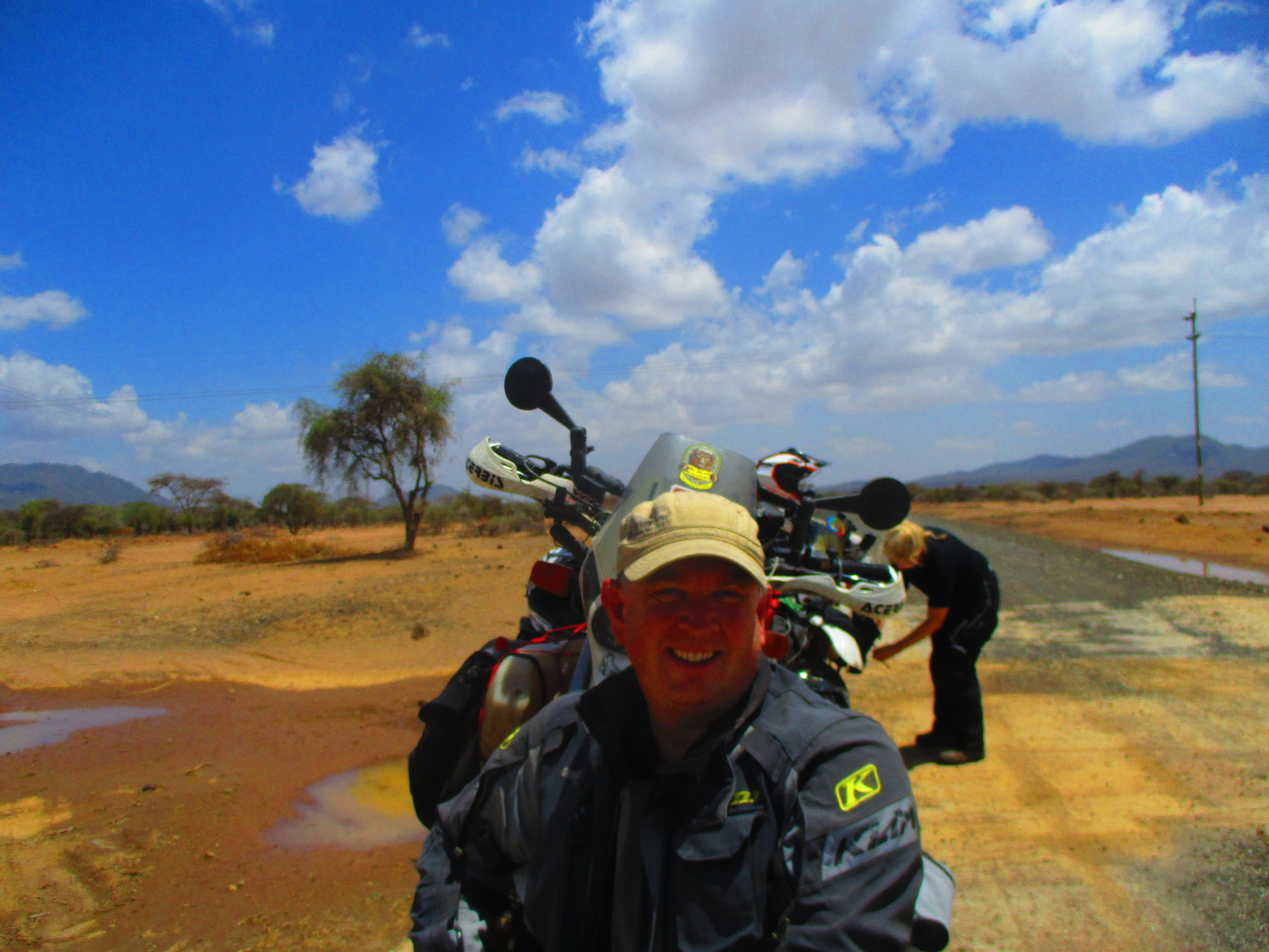 The landscape turned to striking desert on the run to the Kenyan border