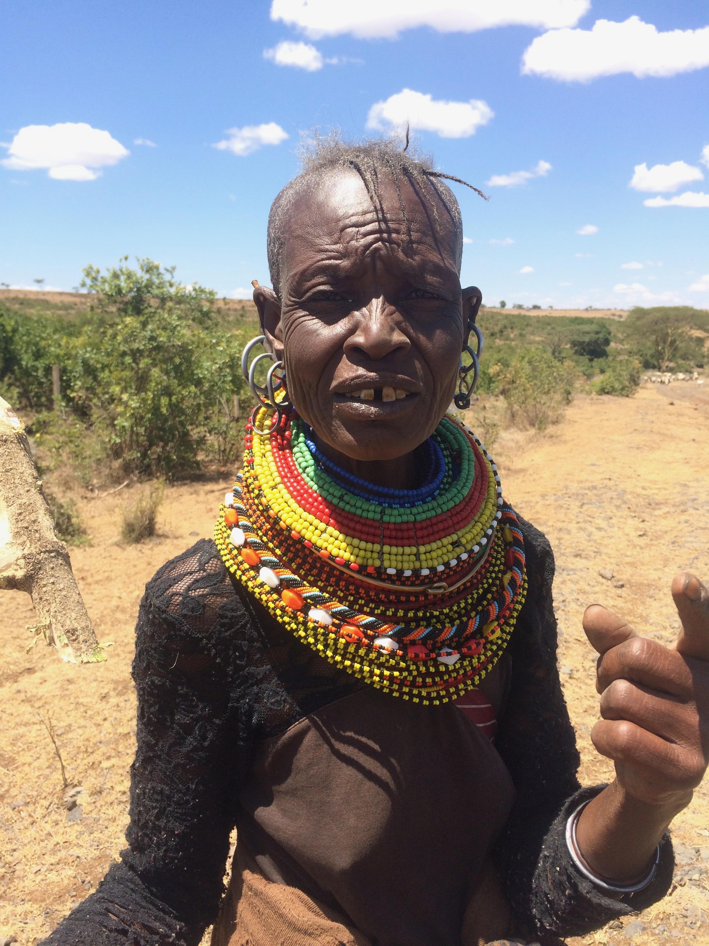 Mad Maasai woman.