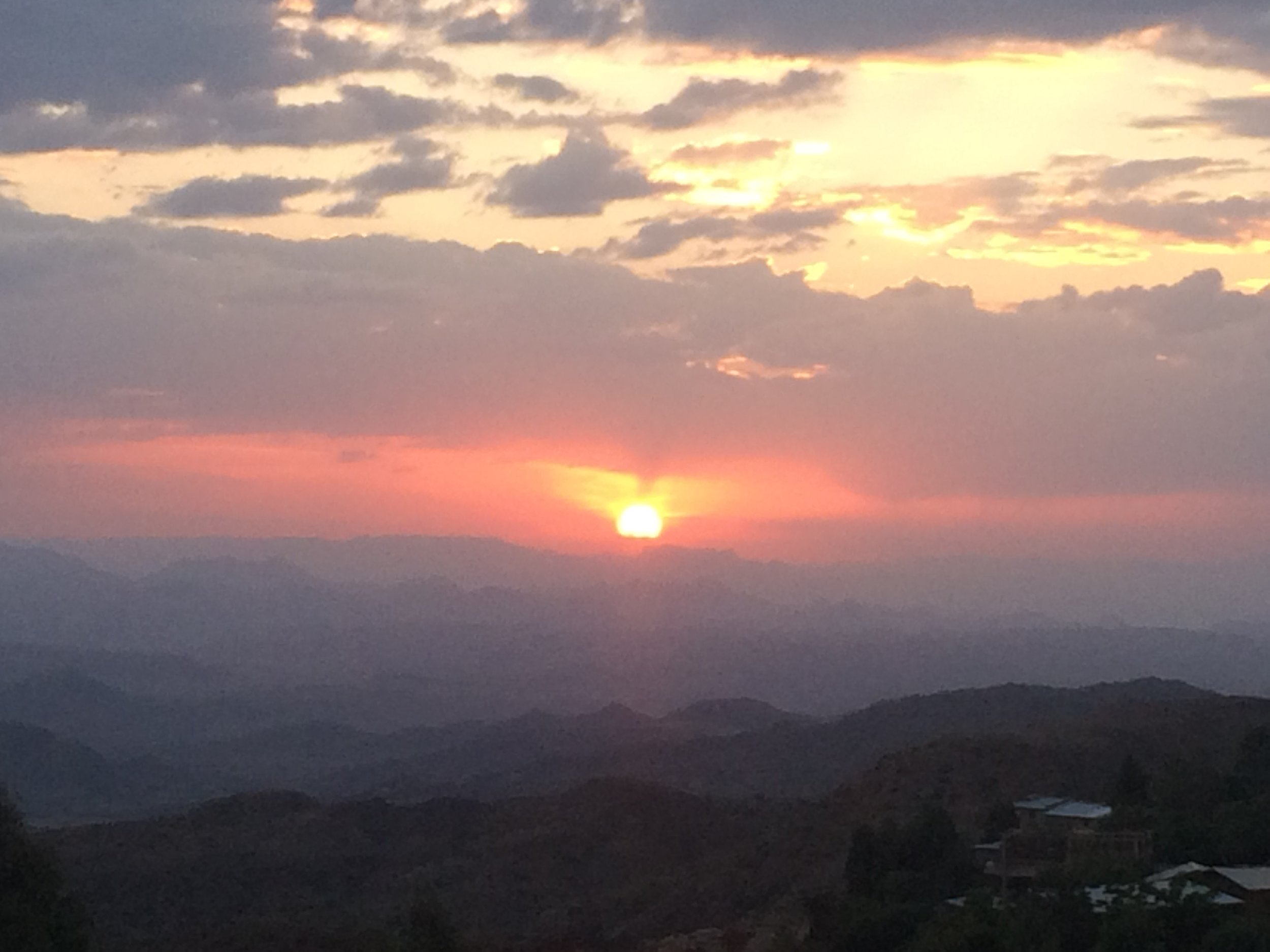 View from Kana Restaurant, Lalibela
