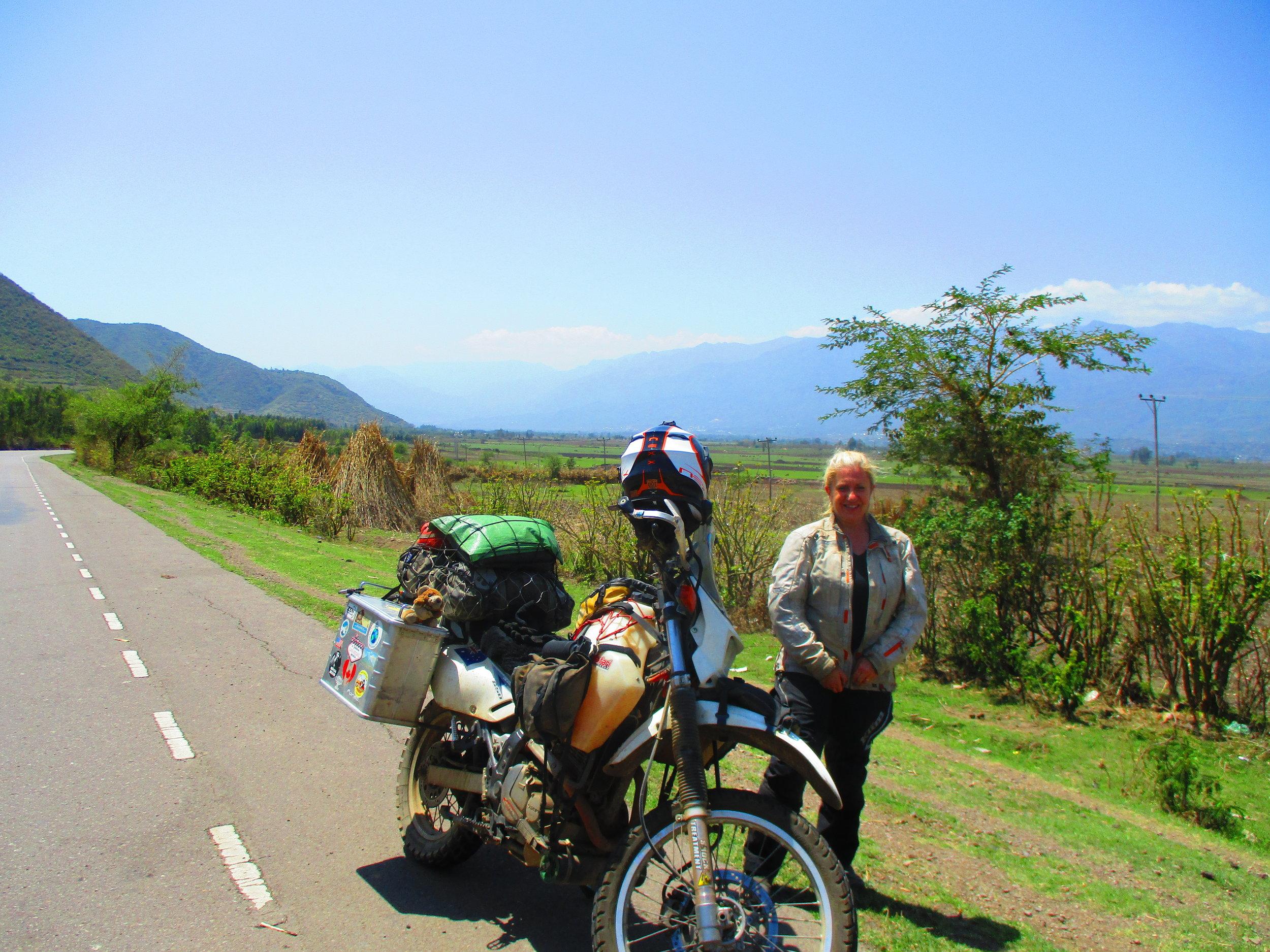The road north of Addis