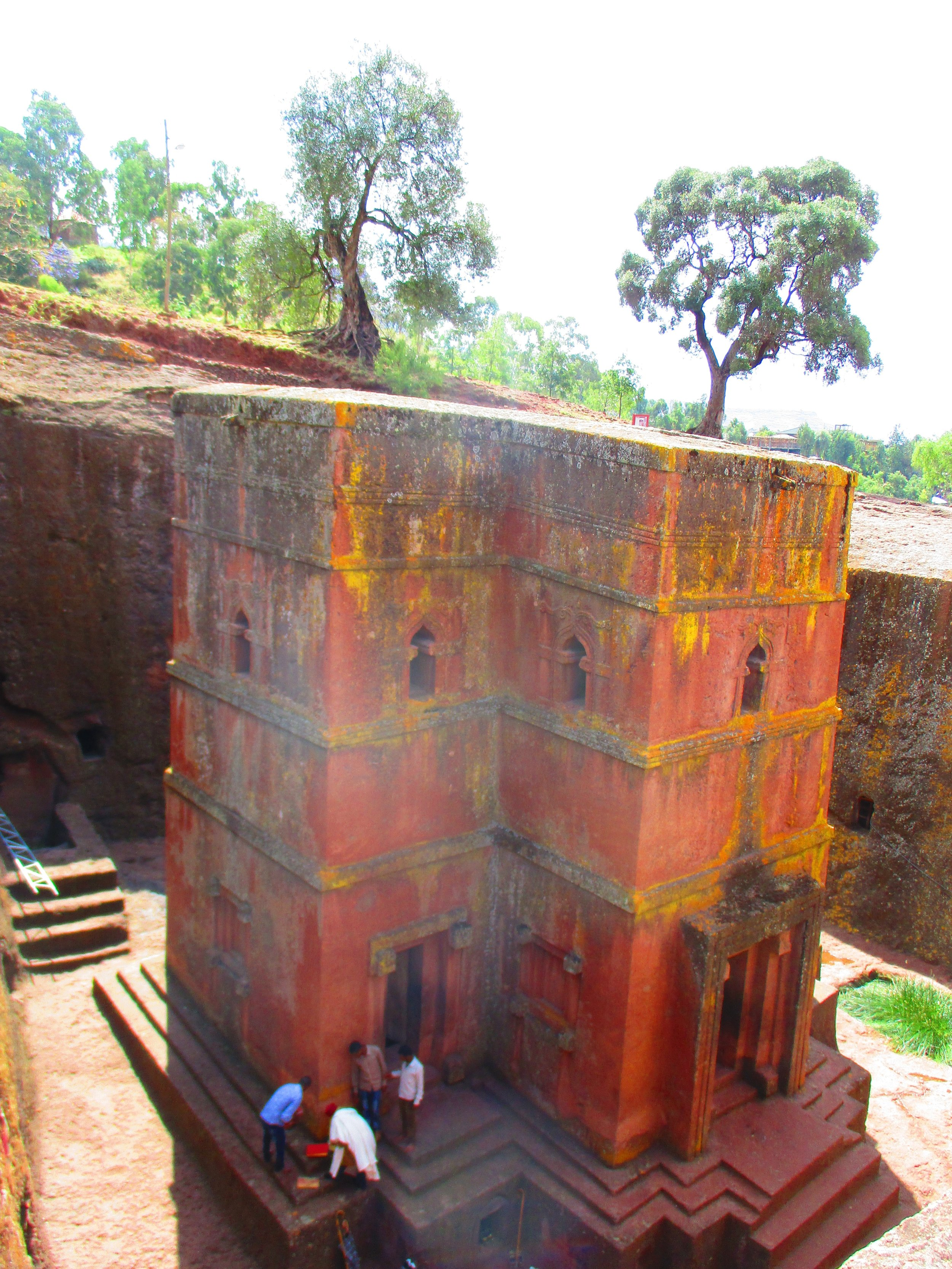 The Church of St George Church / Bete Giyorgis, carved out of the mountain.