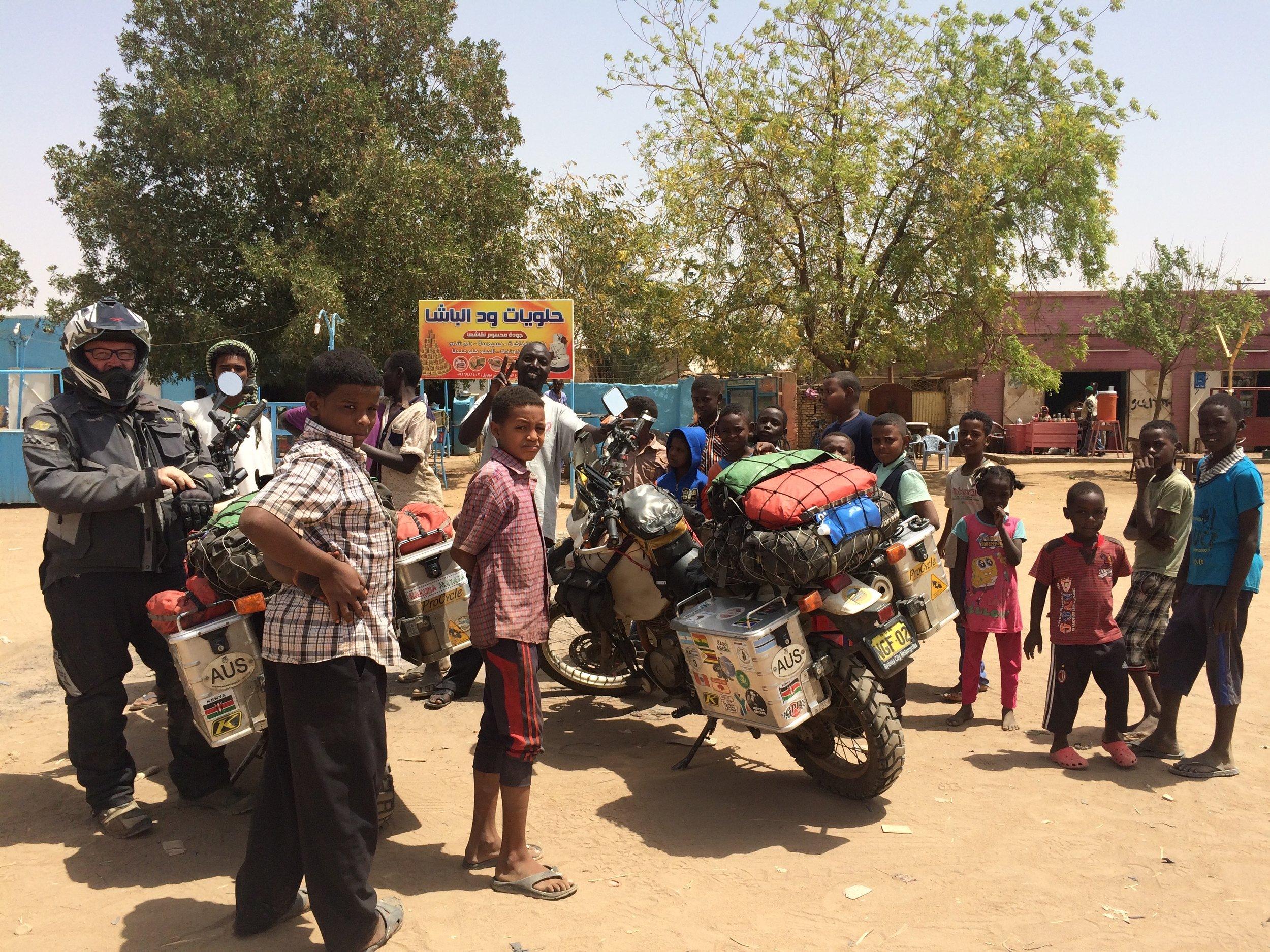 Stopping for a short break en-route to Khartoum.