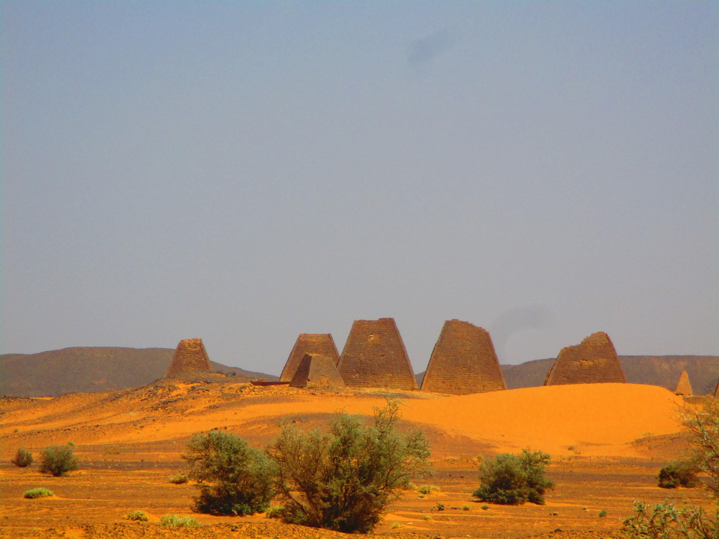 Pyramids of Meroe -en-route from Khartoum to Atbara