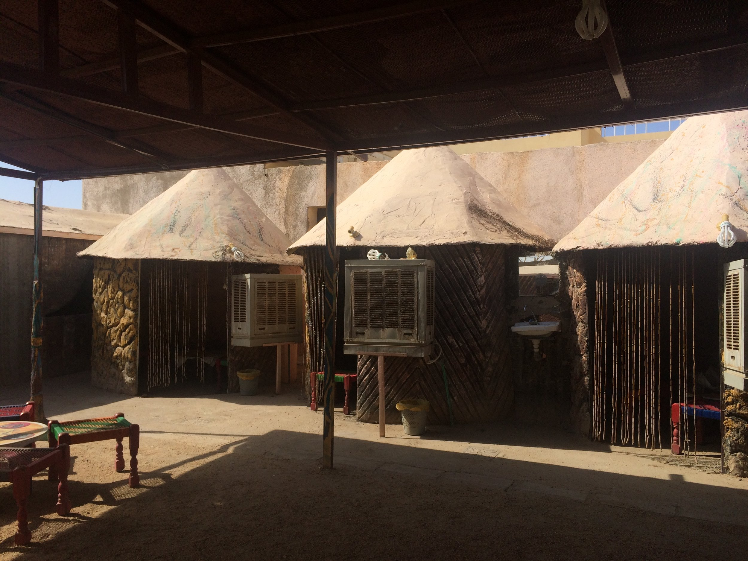 Air conditioned booth huts in the cafe.