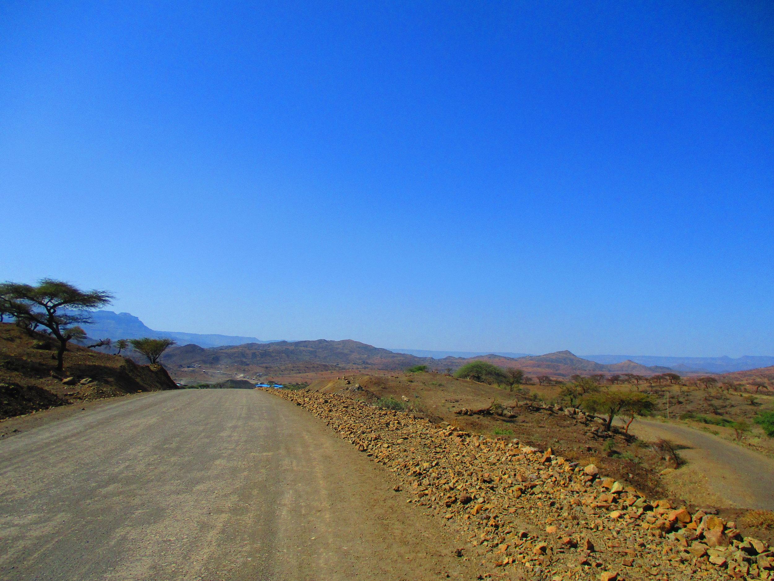 Lalibela to Gashena road.