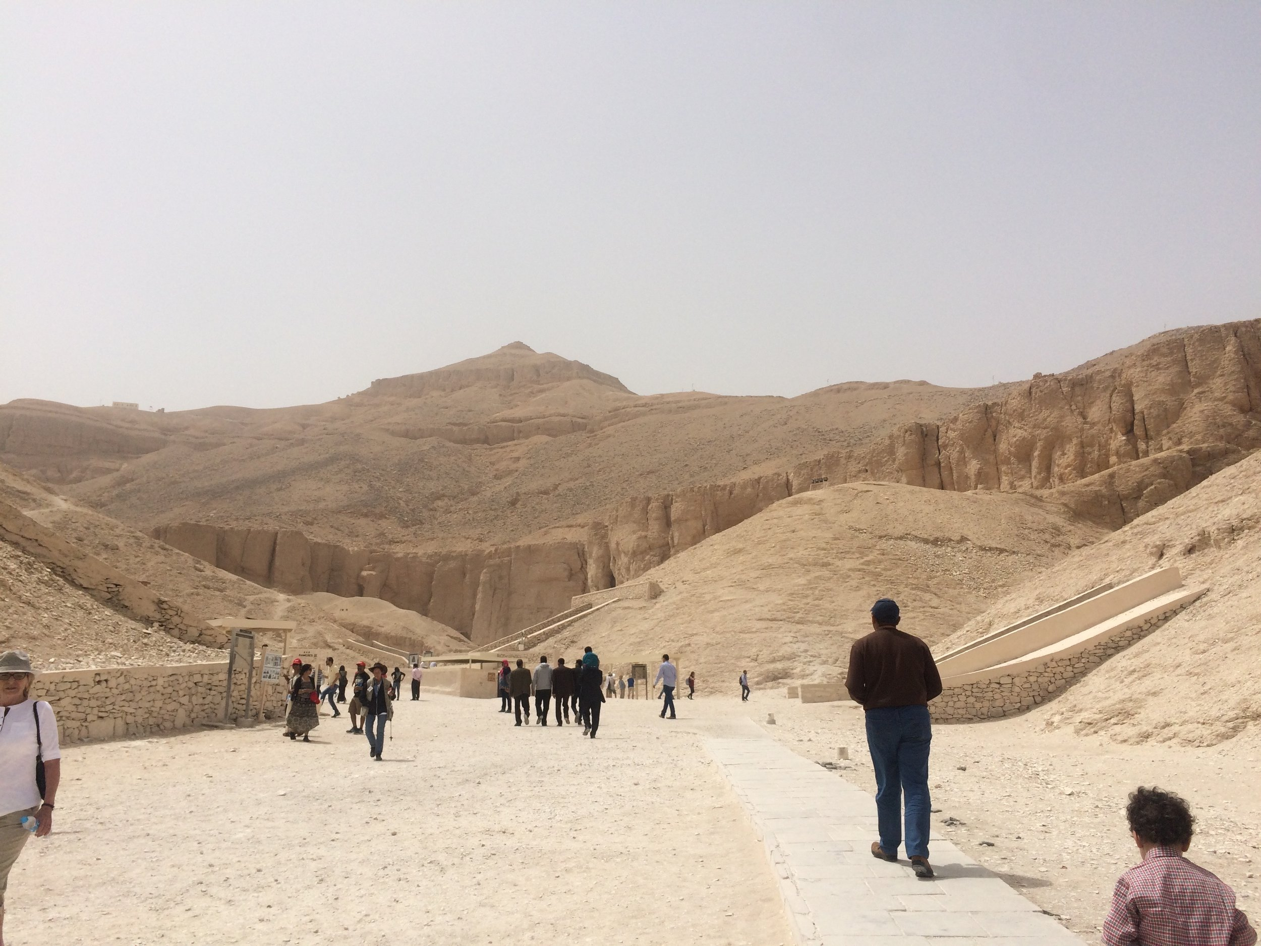 View up the Valley of the Kings