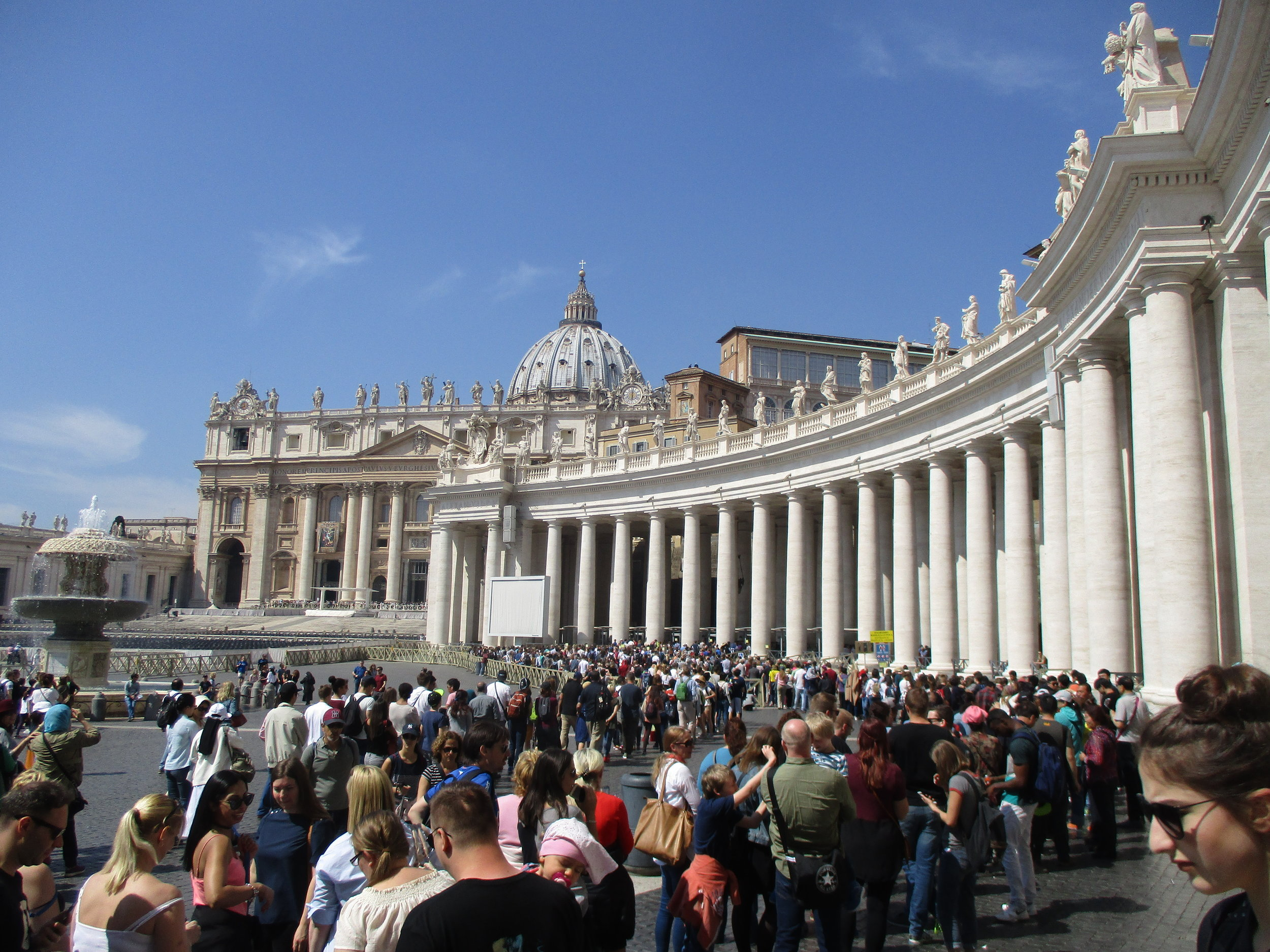 St. Peter's square at the Vatican. That's about 1/4 of the queue to get into the Sistine chapel