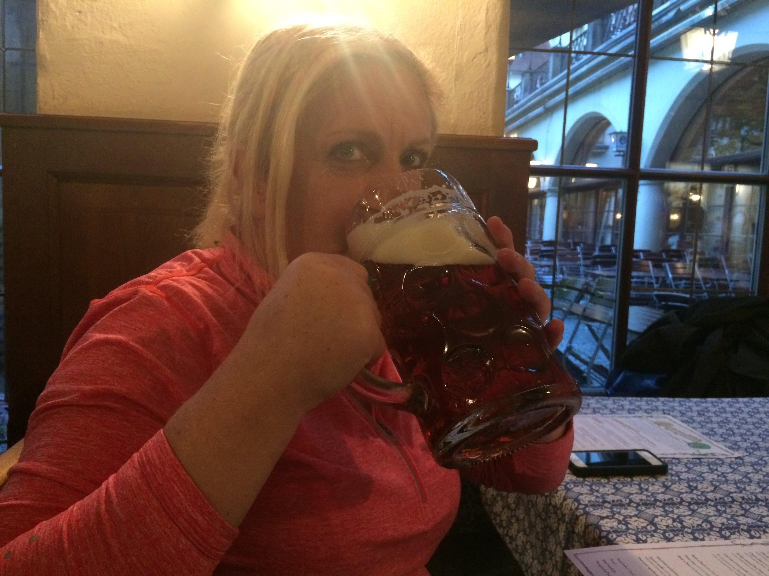A beer as big as my head, Hofbräuhaus, Munich