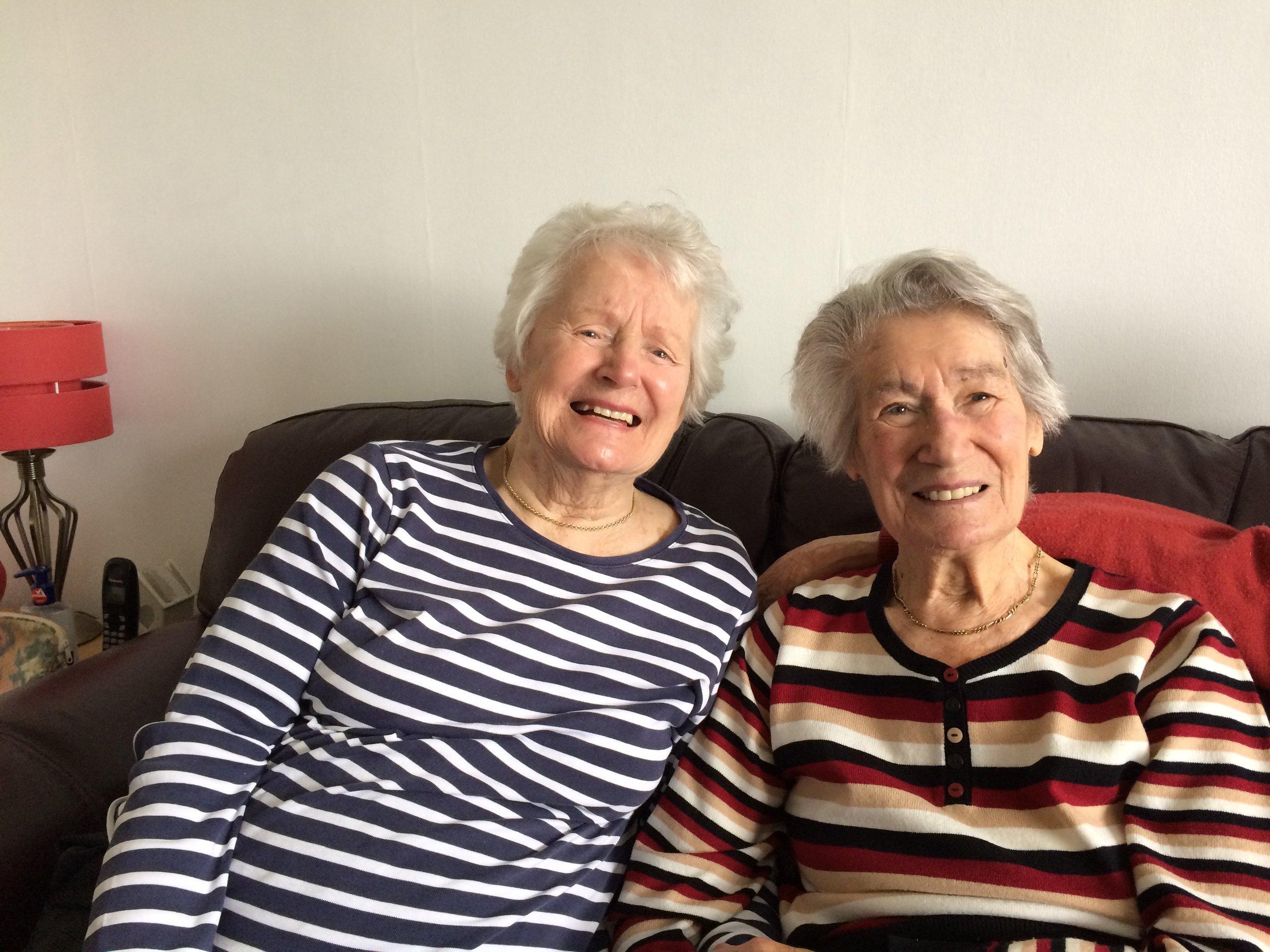 My fabulous aunties, Aunty Margaret and Aunty Gwyn