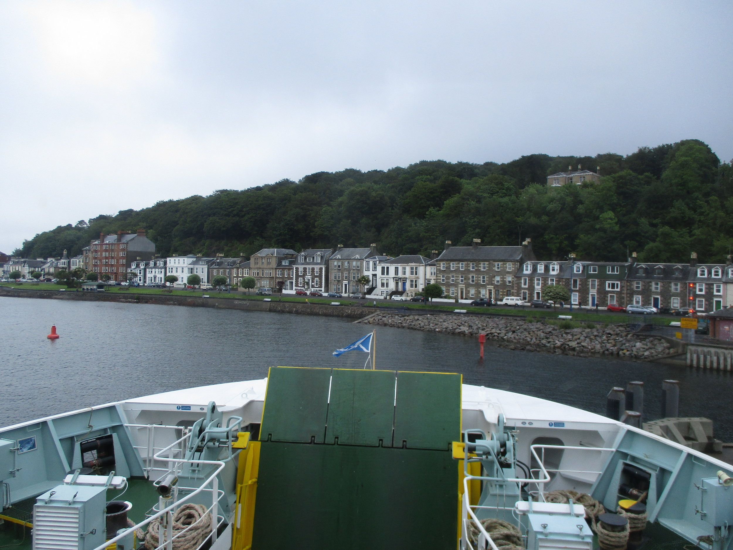 Leaving the Isle of Bute on the ferry.
