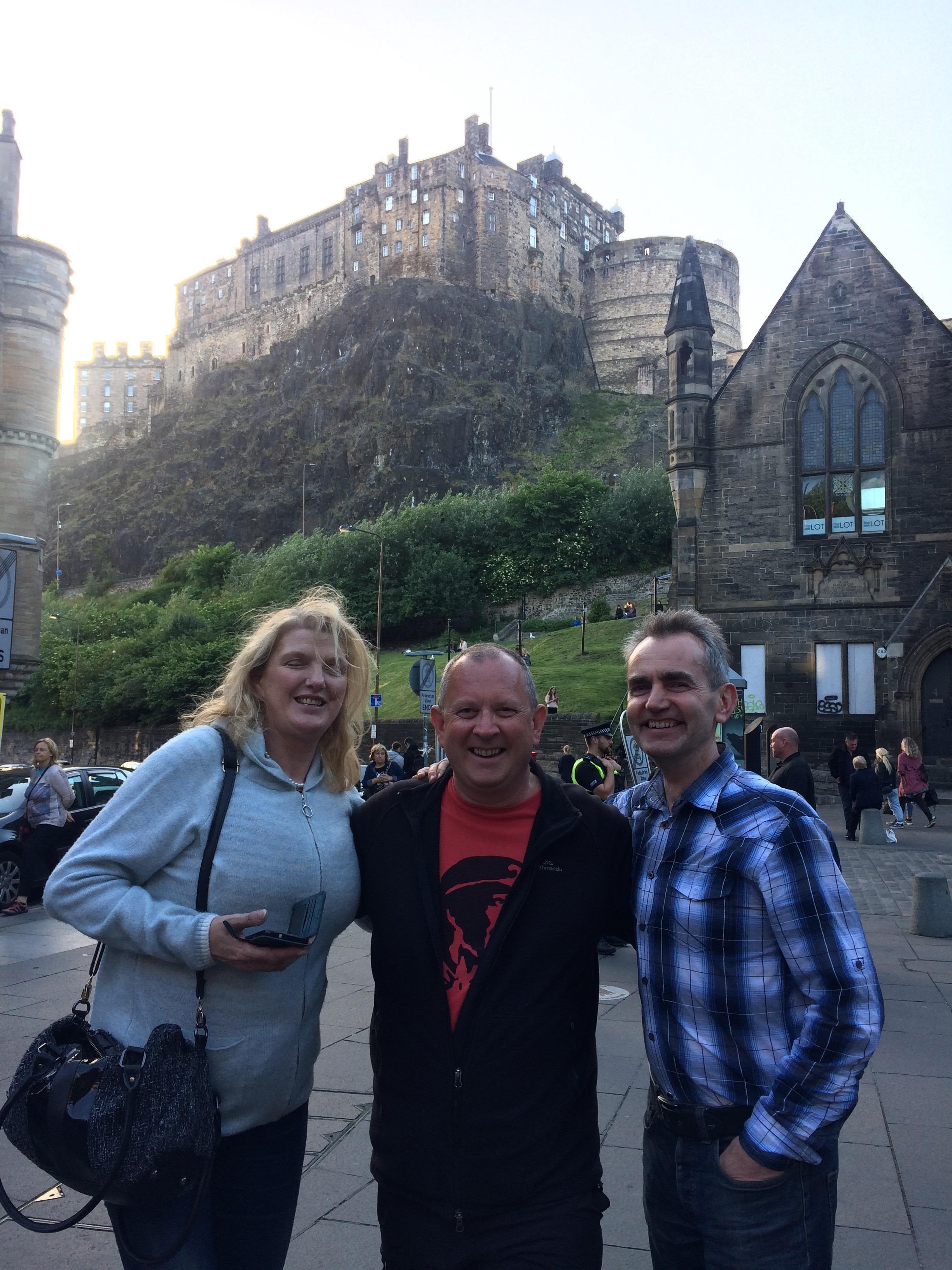 Jeff's cousin John and the lovely Eva in Edinburgh
