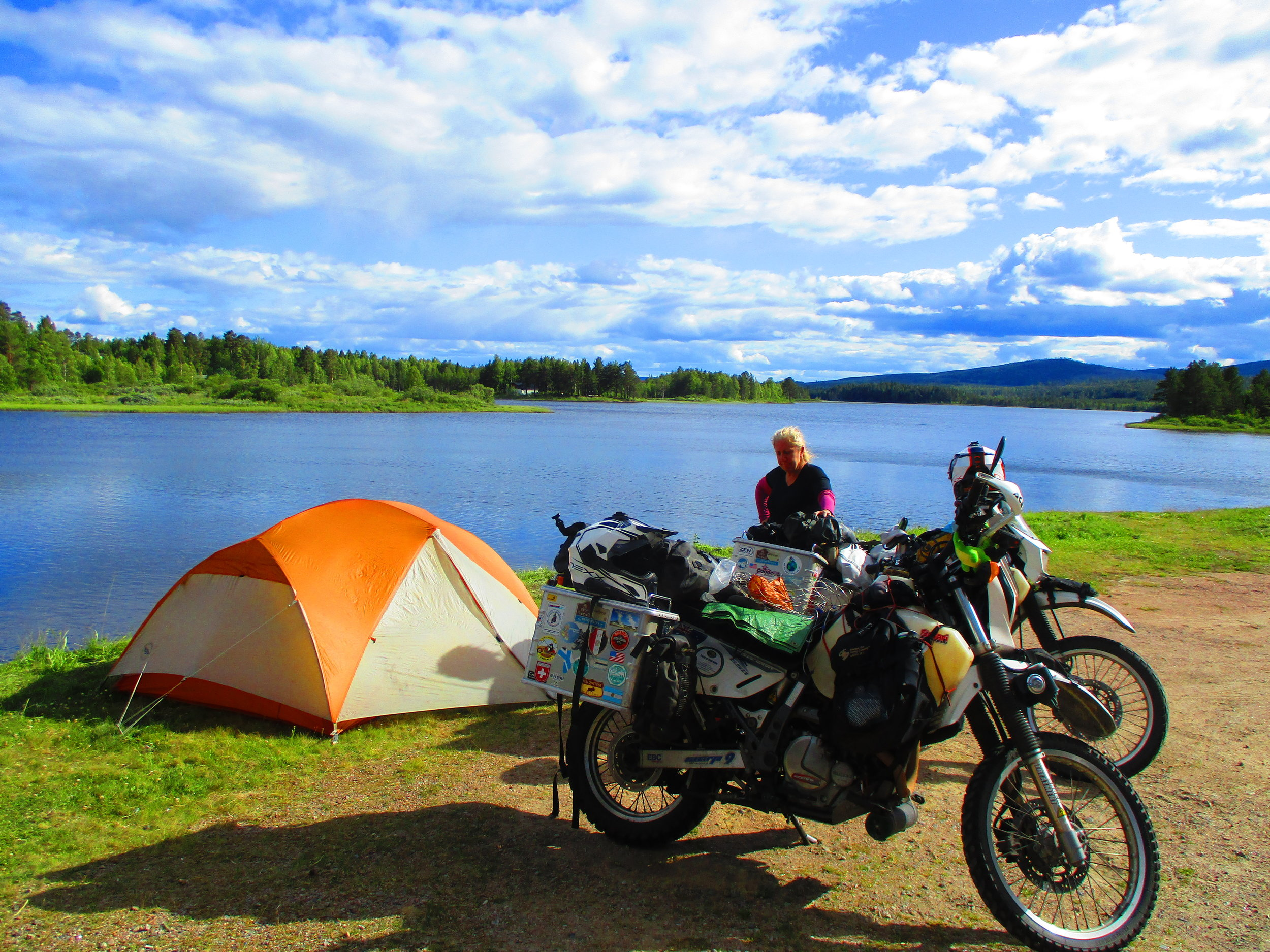Free camping in Ytterhogdal, Sweden