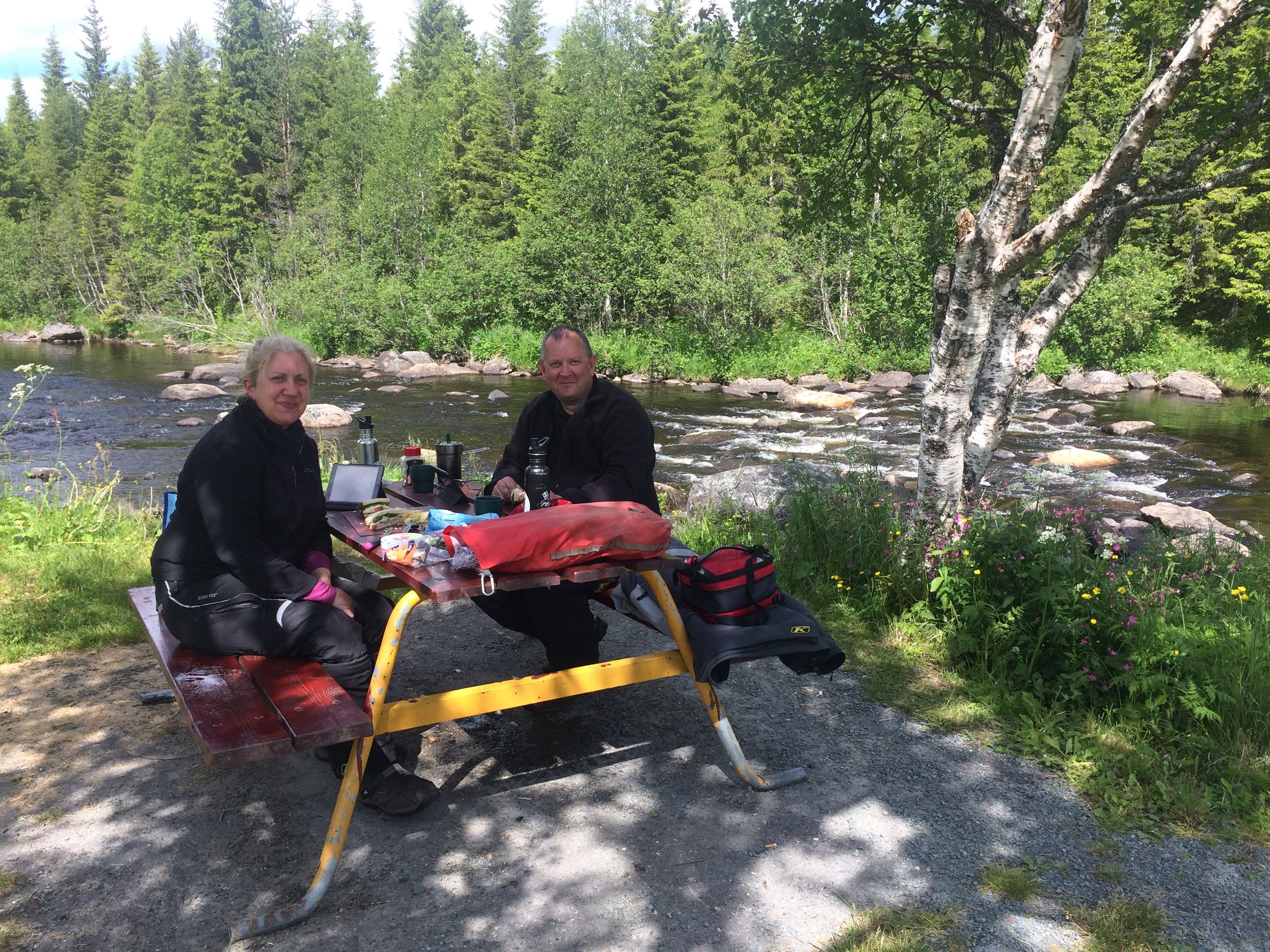 Picnic spot in Norway - just over the border from Sweden on the way to Trondheim