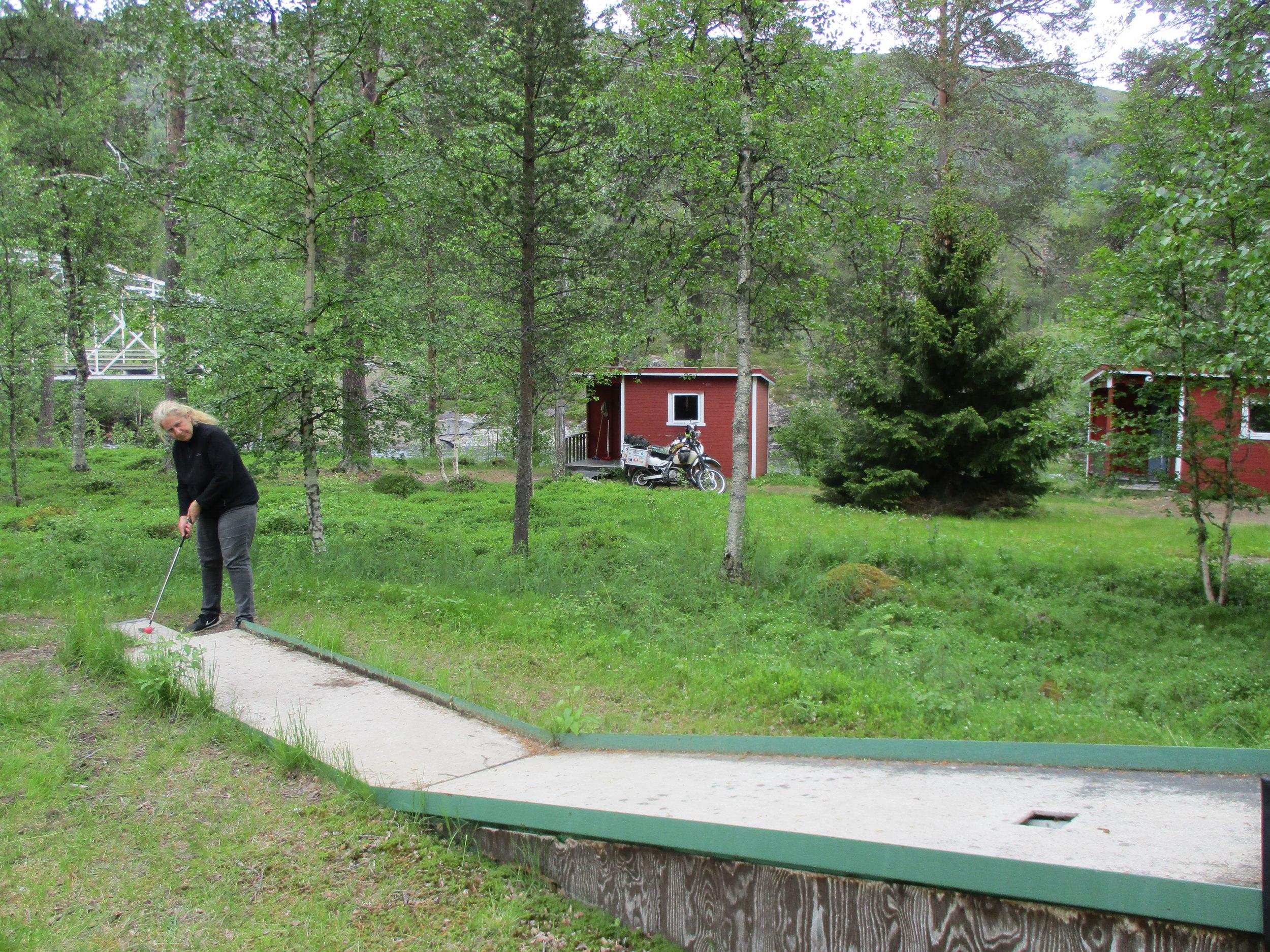 Krokstrand camp site - bit of Pitch and Putt