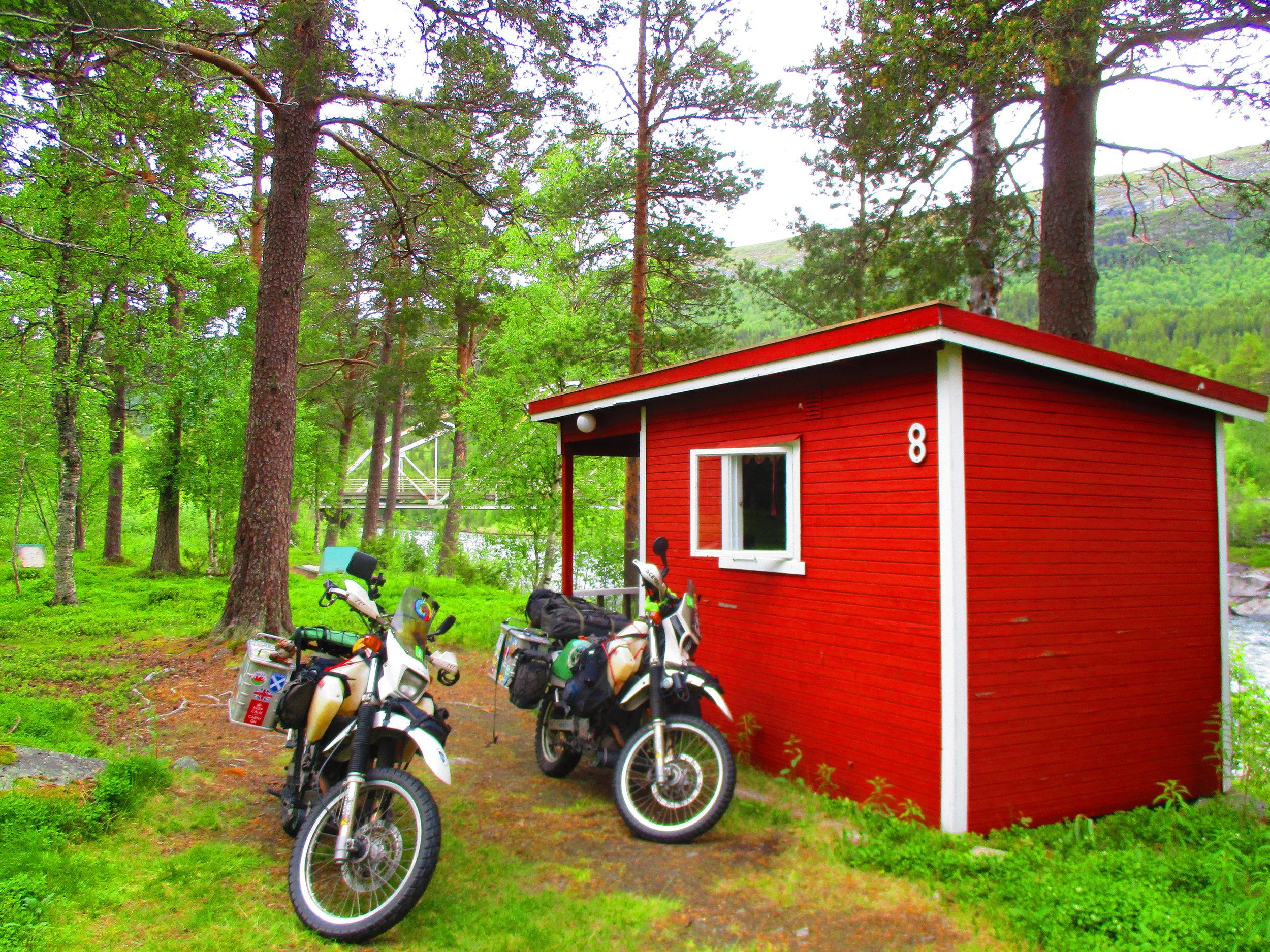 Krokstrand camp site cabin